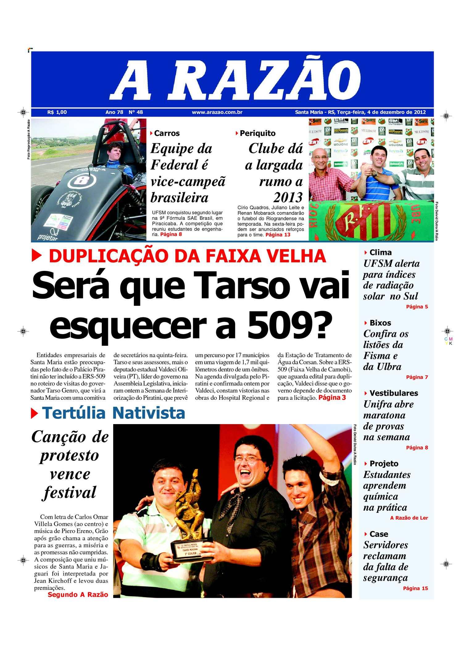 160e38c6f5 Calaméo - Jornal A Razão Santa Maria - 04122012