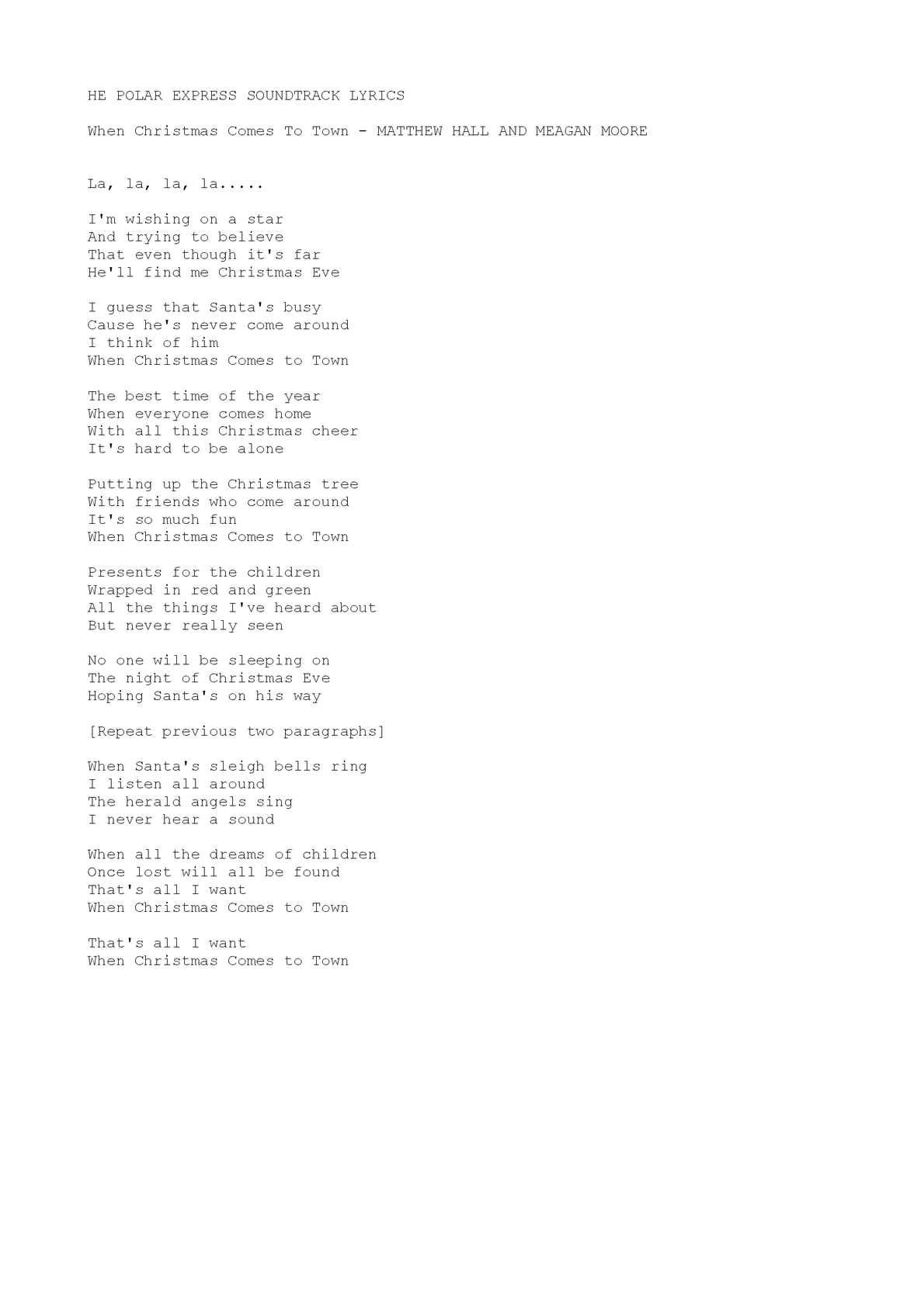 When Christmas Comes To Town Lyrics.Calameo Merry Christmas