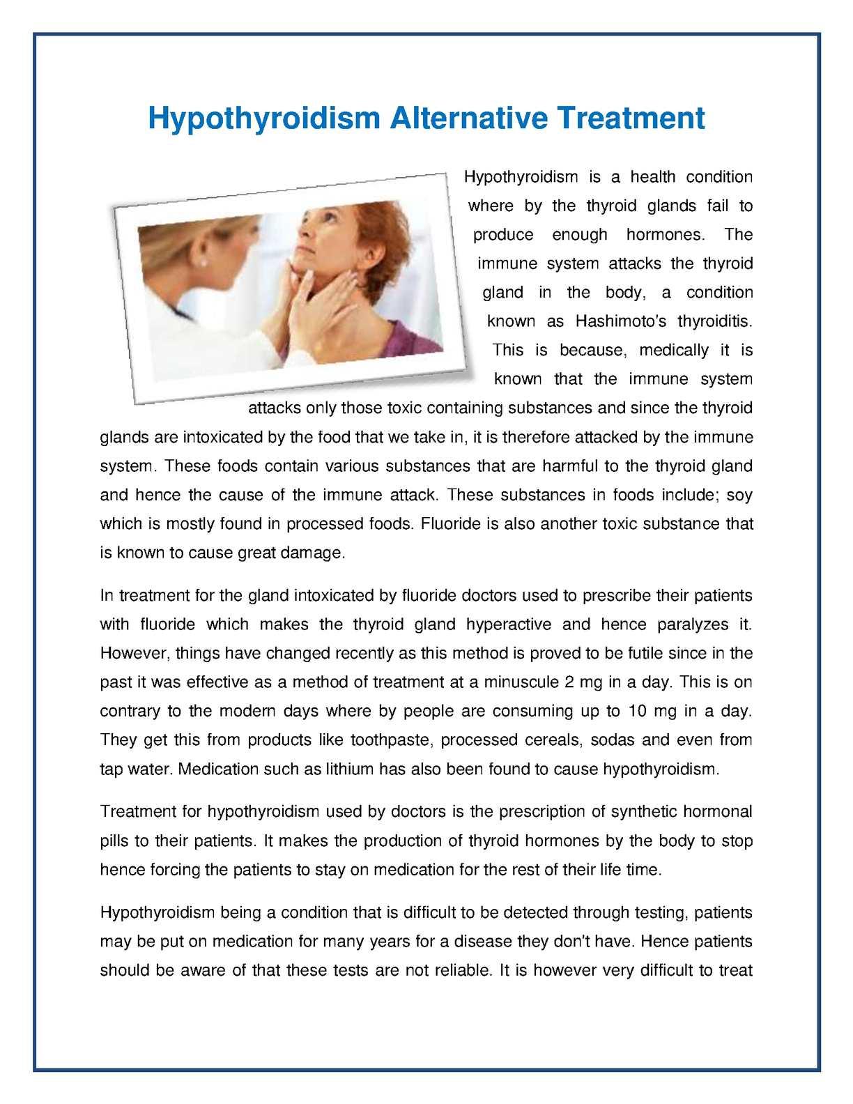 Calaméo - Hypothyroidism Alternative Treatment