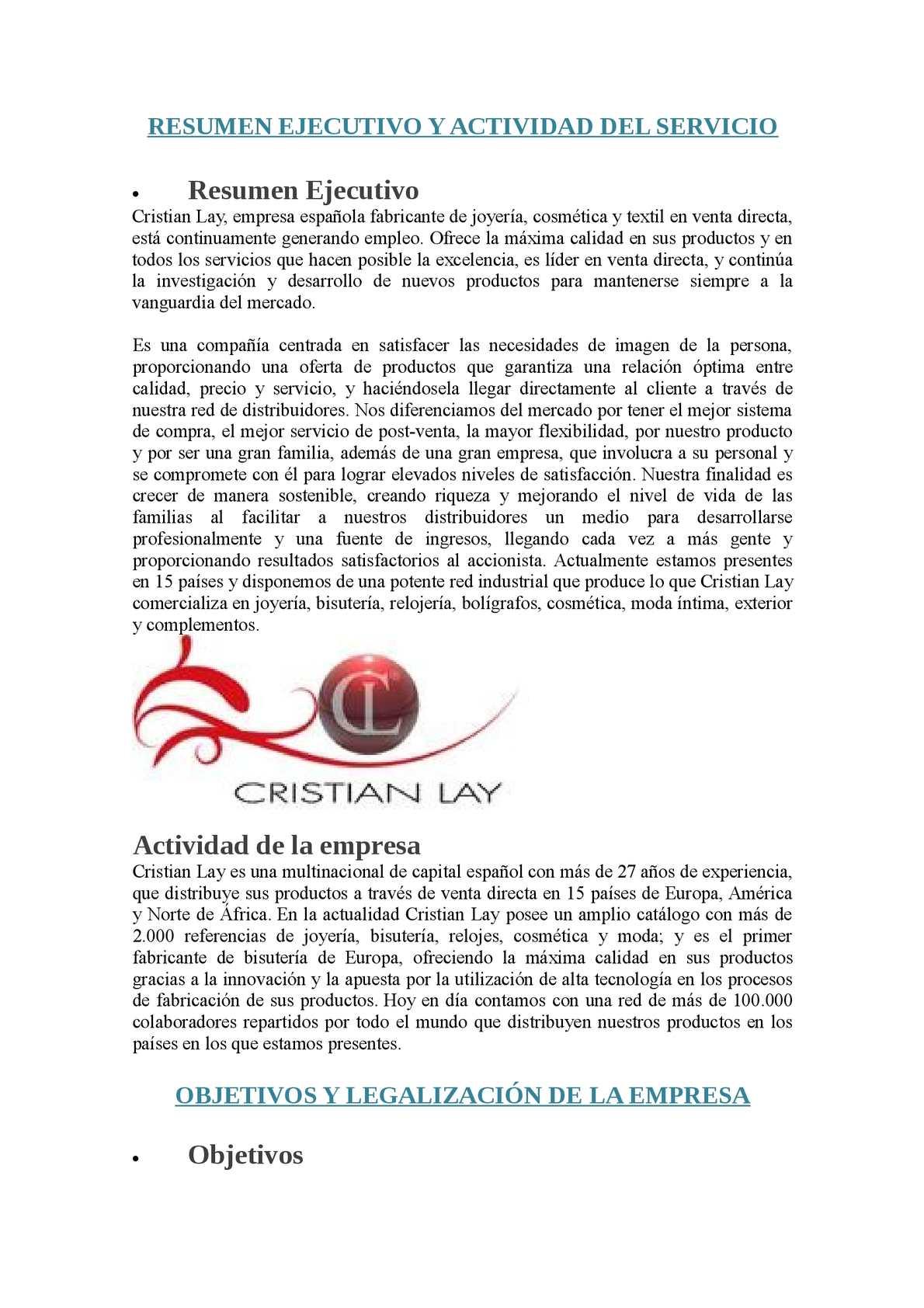 Cristian Lay S.A
