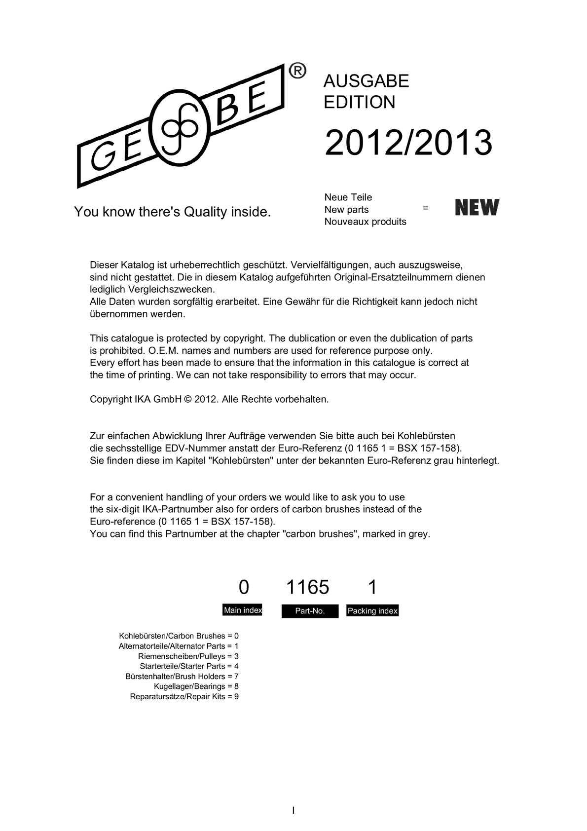 BOSCH Carbon Brush alternator 6 033 RD7 001