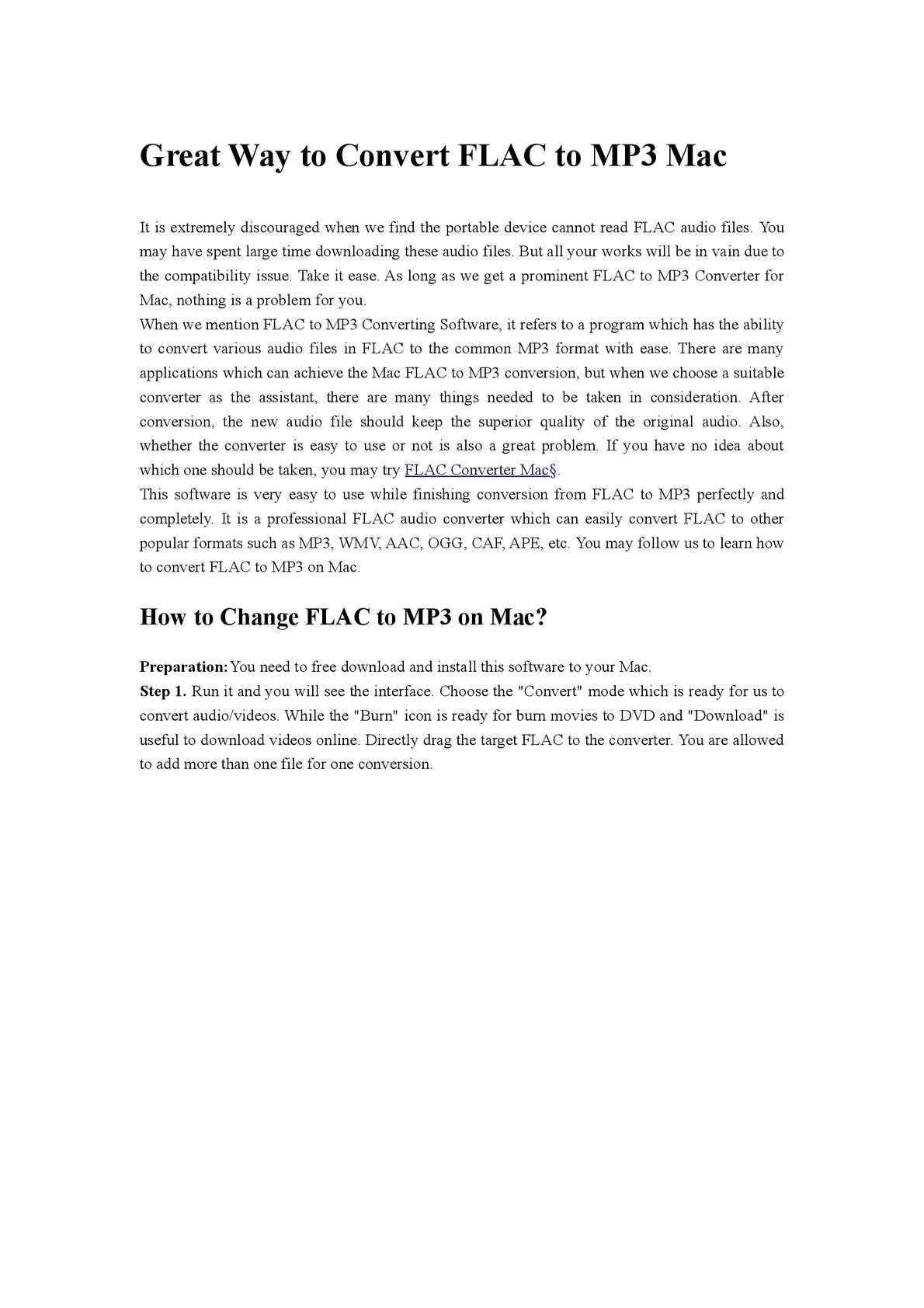 Calaméo - Great Way to Convert FLAC to MP3 Mac