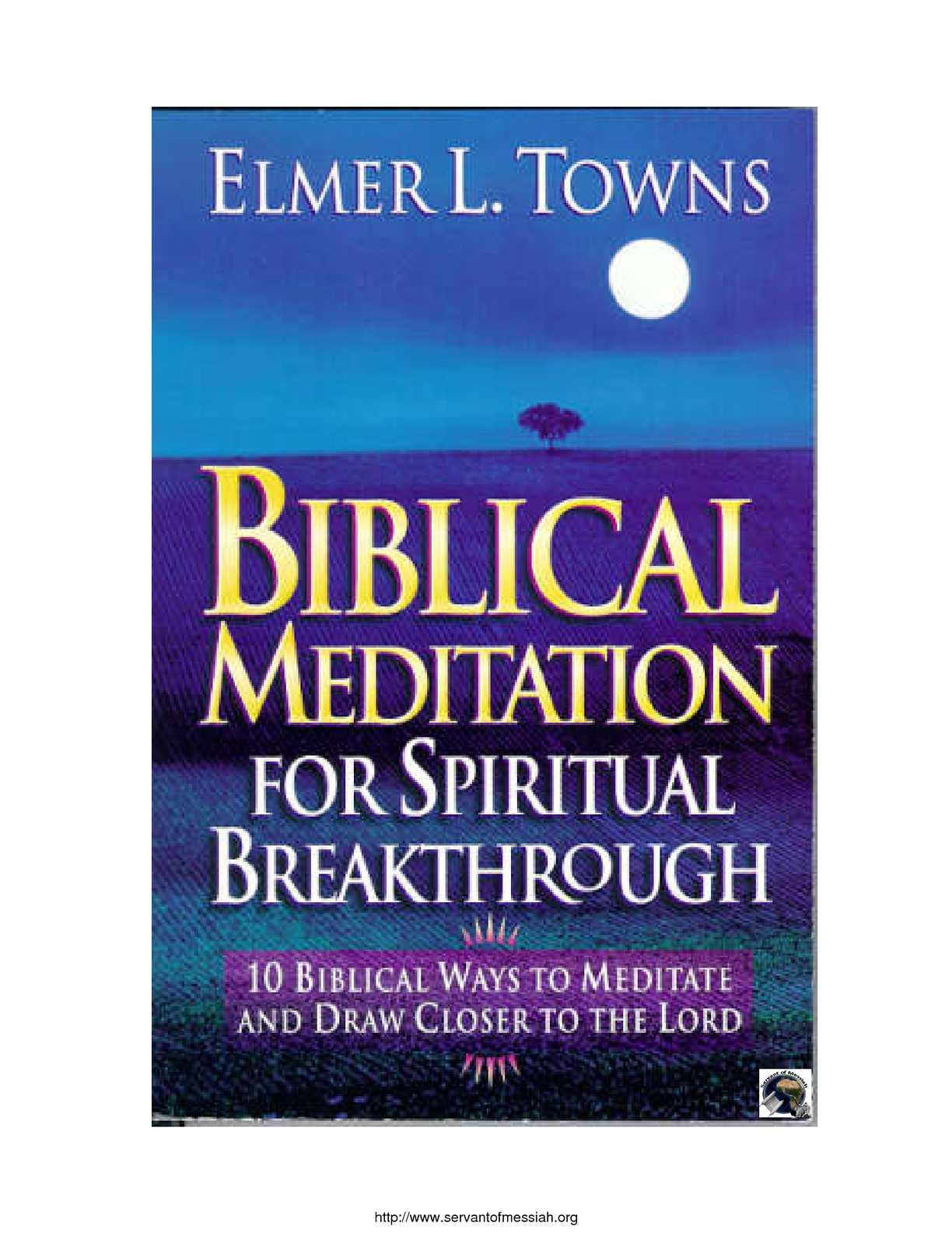 Calaméo - Biblical Meditation for Spiritual Breakthrough