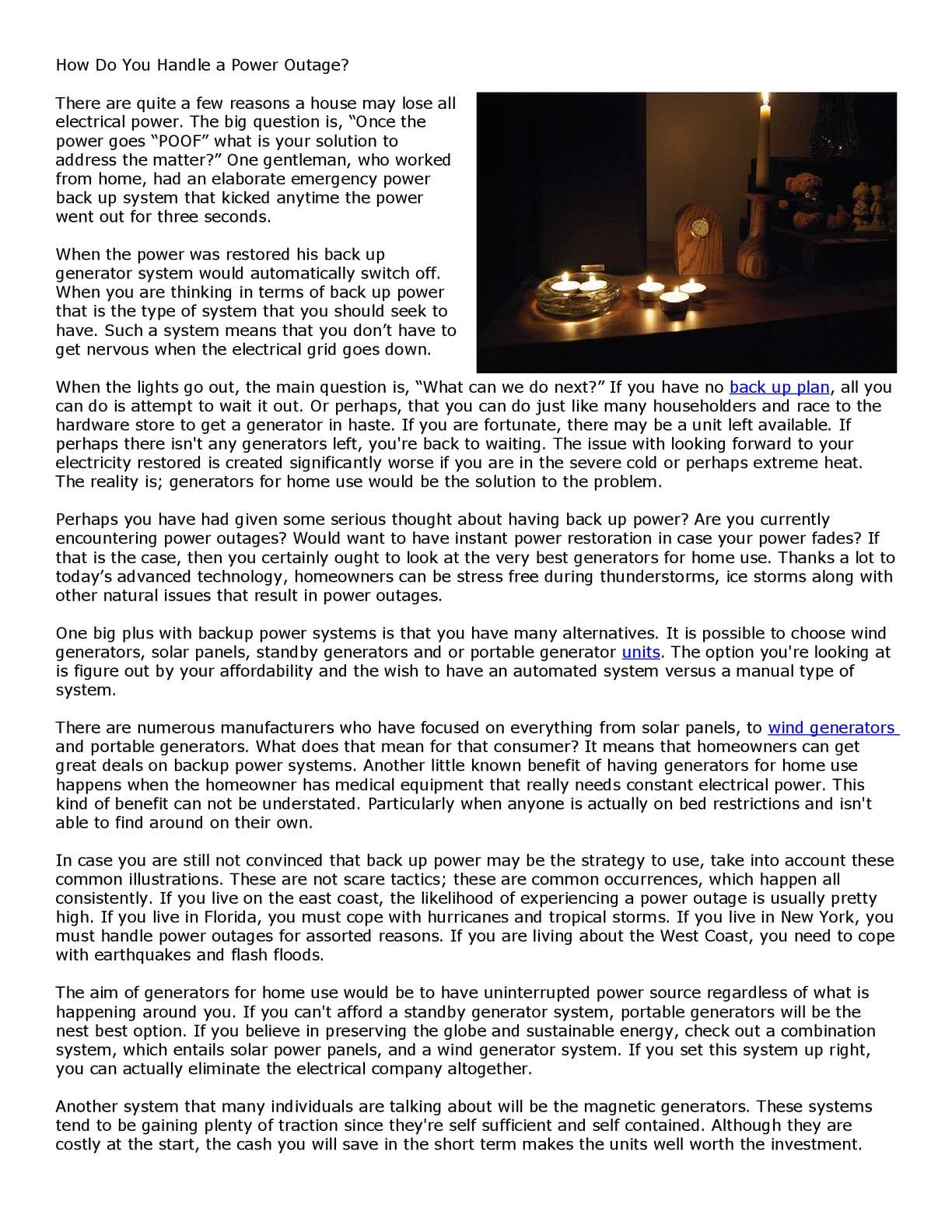 Calaméo - How Do You Handle a Power Outage