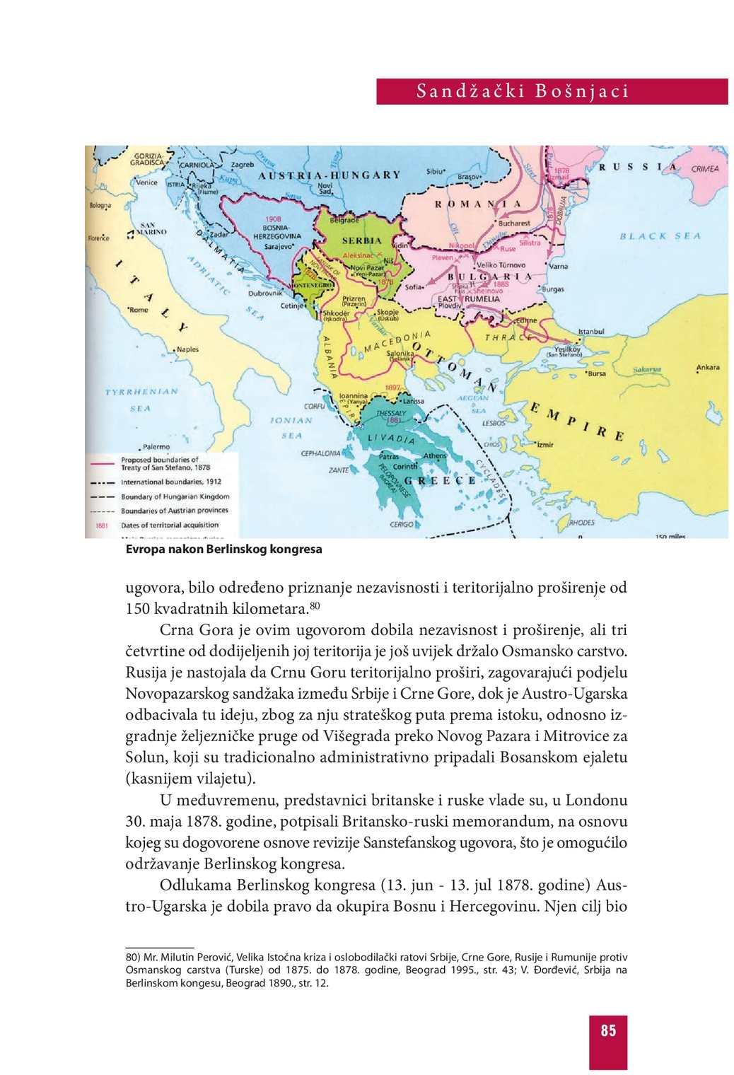 Karta Balkana 1878.Sandzacki Bosnjaci Calameo Downloader
