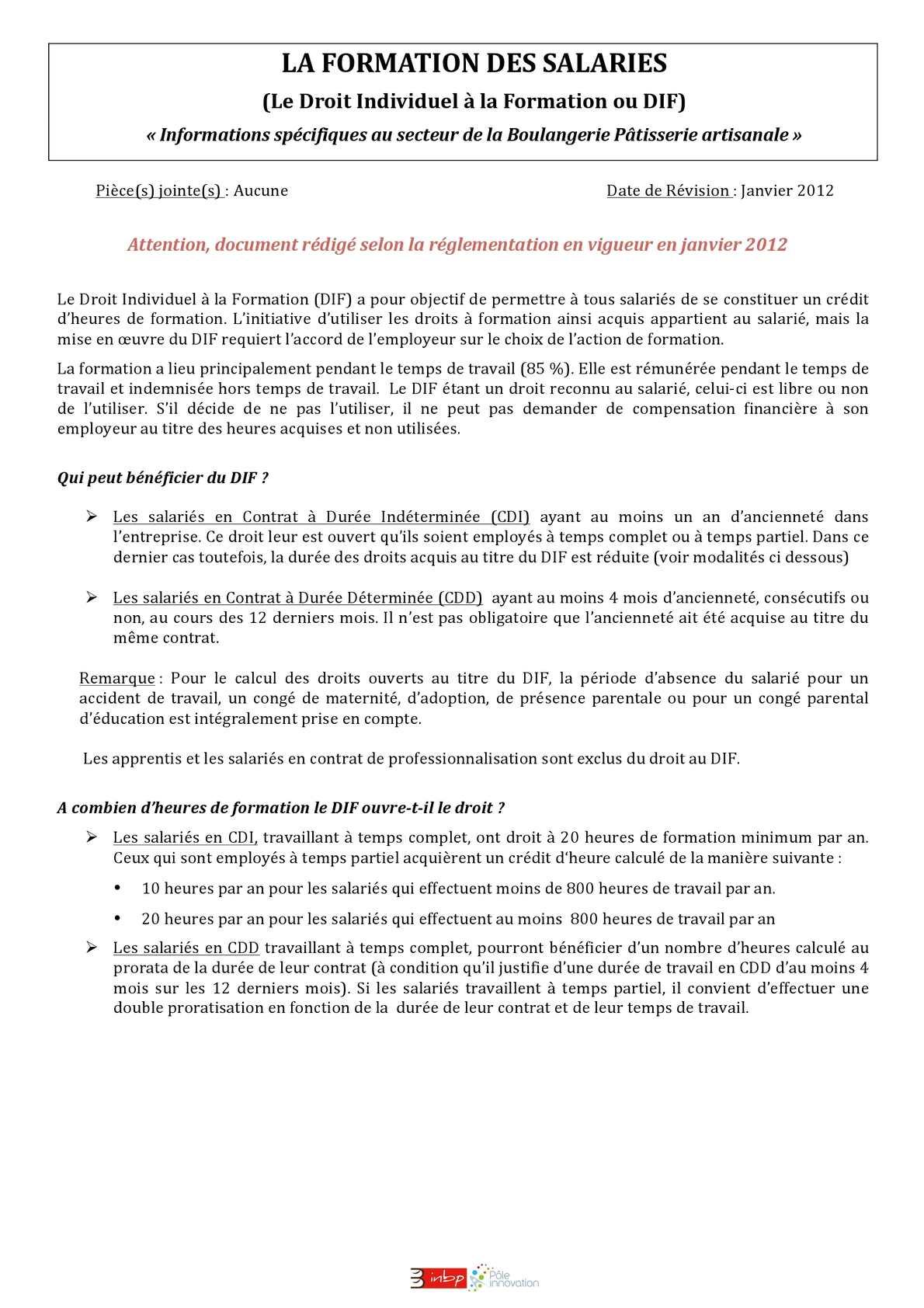 33adbccba78 Calaméo - Le DIF (le Droit Individuel à la Formation)