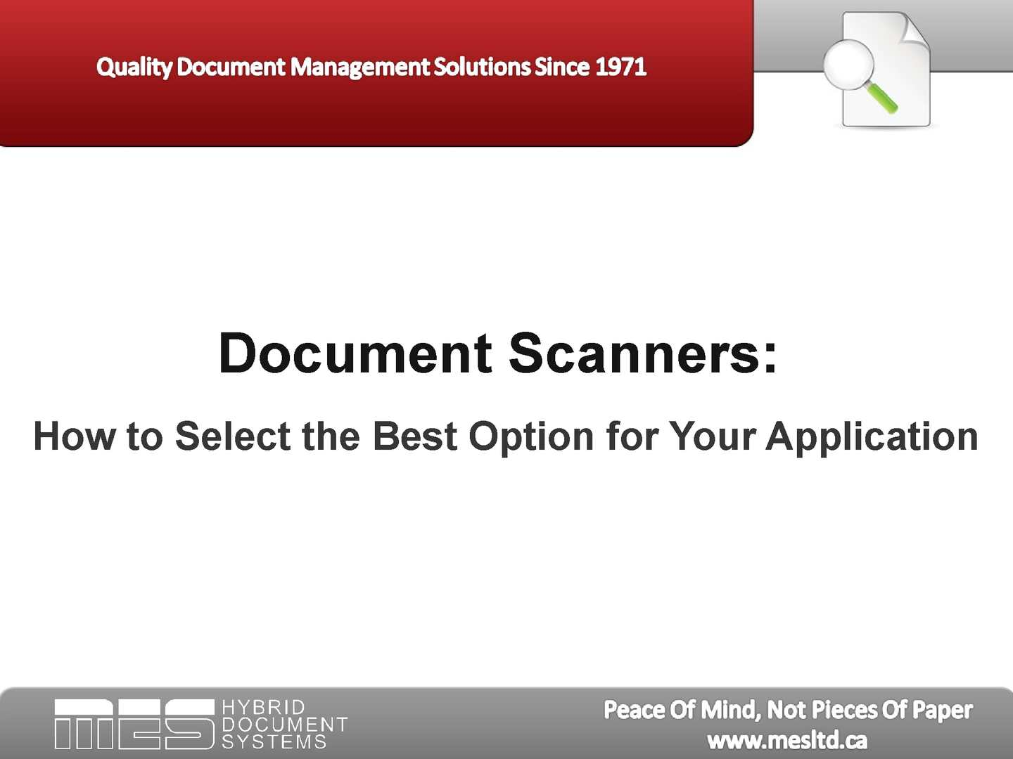 Calaméo - Document Scanners: How to Select the Best Option for Your