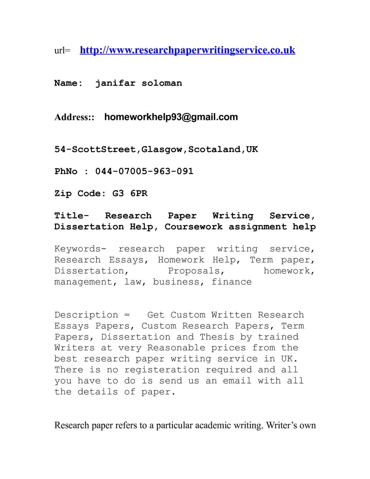 Term paper writers site us cover letter for an email response