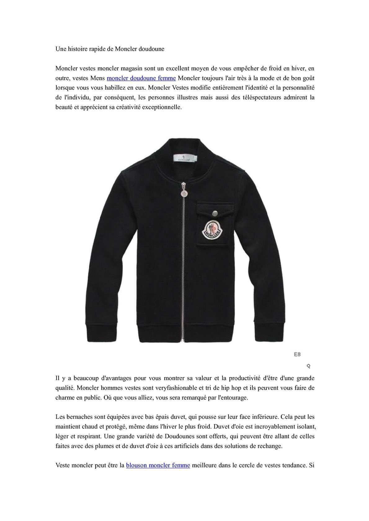 fc32dd8abfdf Calaméo - Une histoire rapide de Moncler doudoune
