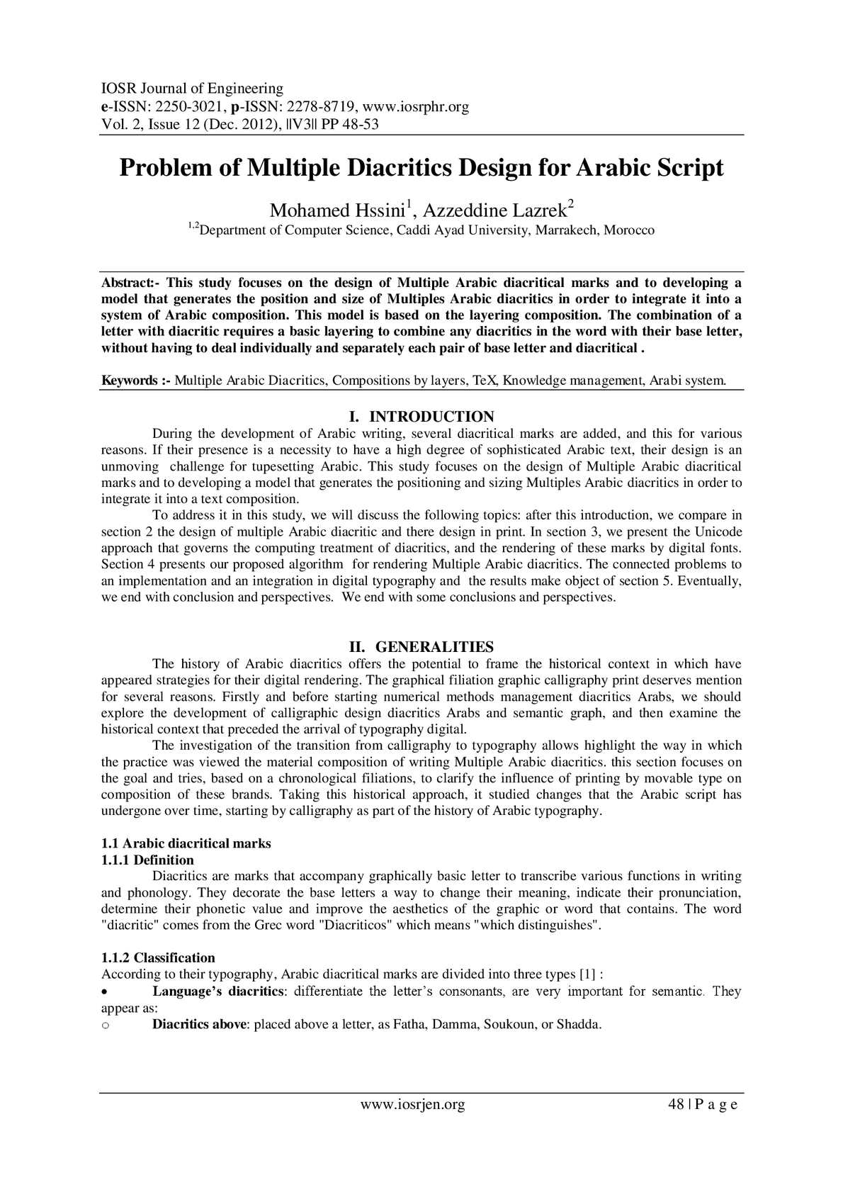Calaméo - IOSRJEN : hard copy, certificates, Call for Papers 2012