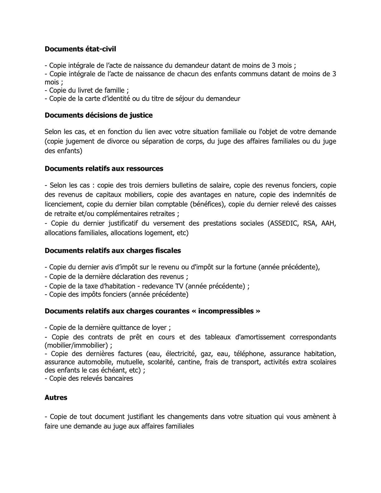 Calameo Documents A Joindre Saisine Du Jaf Droit De La Famille