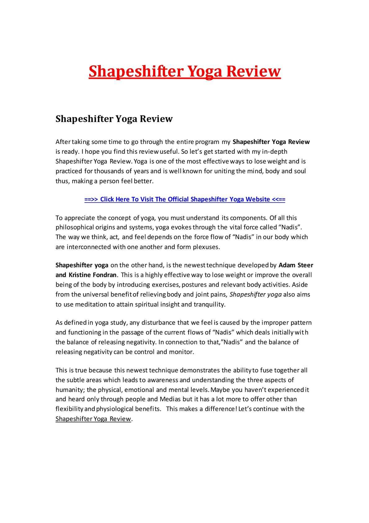 Calaméo - Shapeshifter Yoga