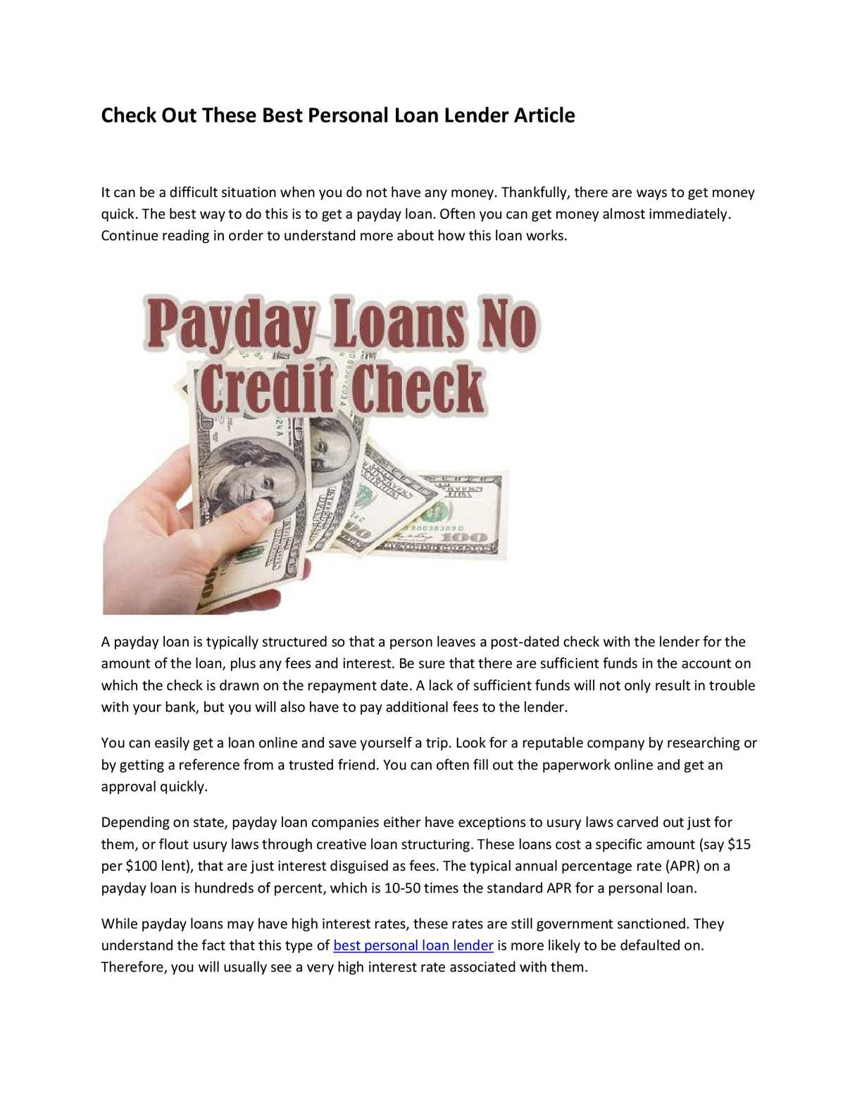 Post dating loan documents