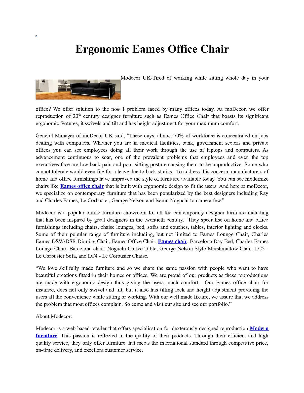 Magnificent Calameo Ergonomic Eames Office Chair Alphanode Cool Chair Designs And Ideas Alphanodeonline