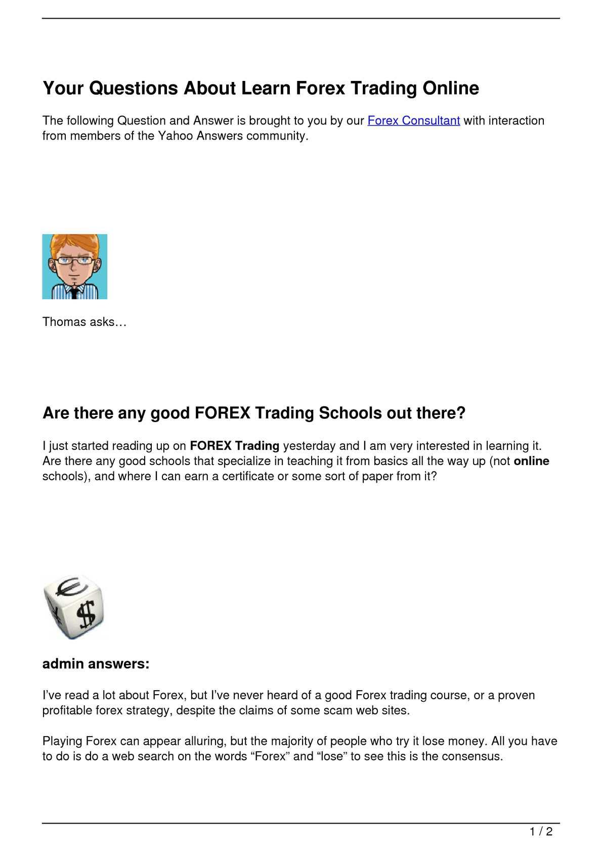 trading online yahoo)