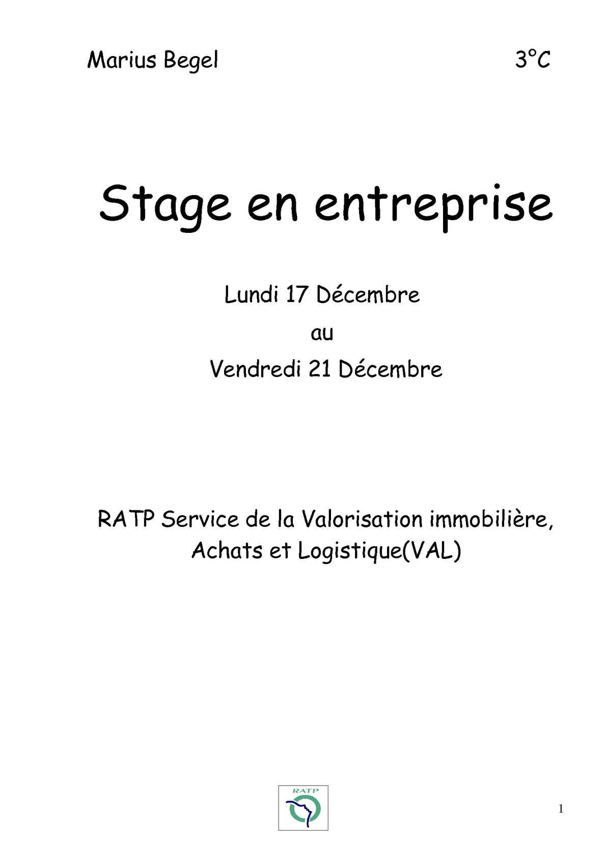 Calaméo Rapport De Stage 3 2