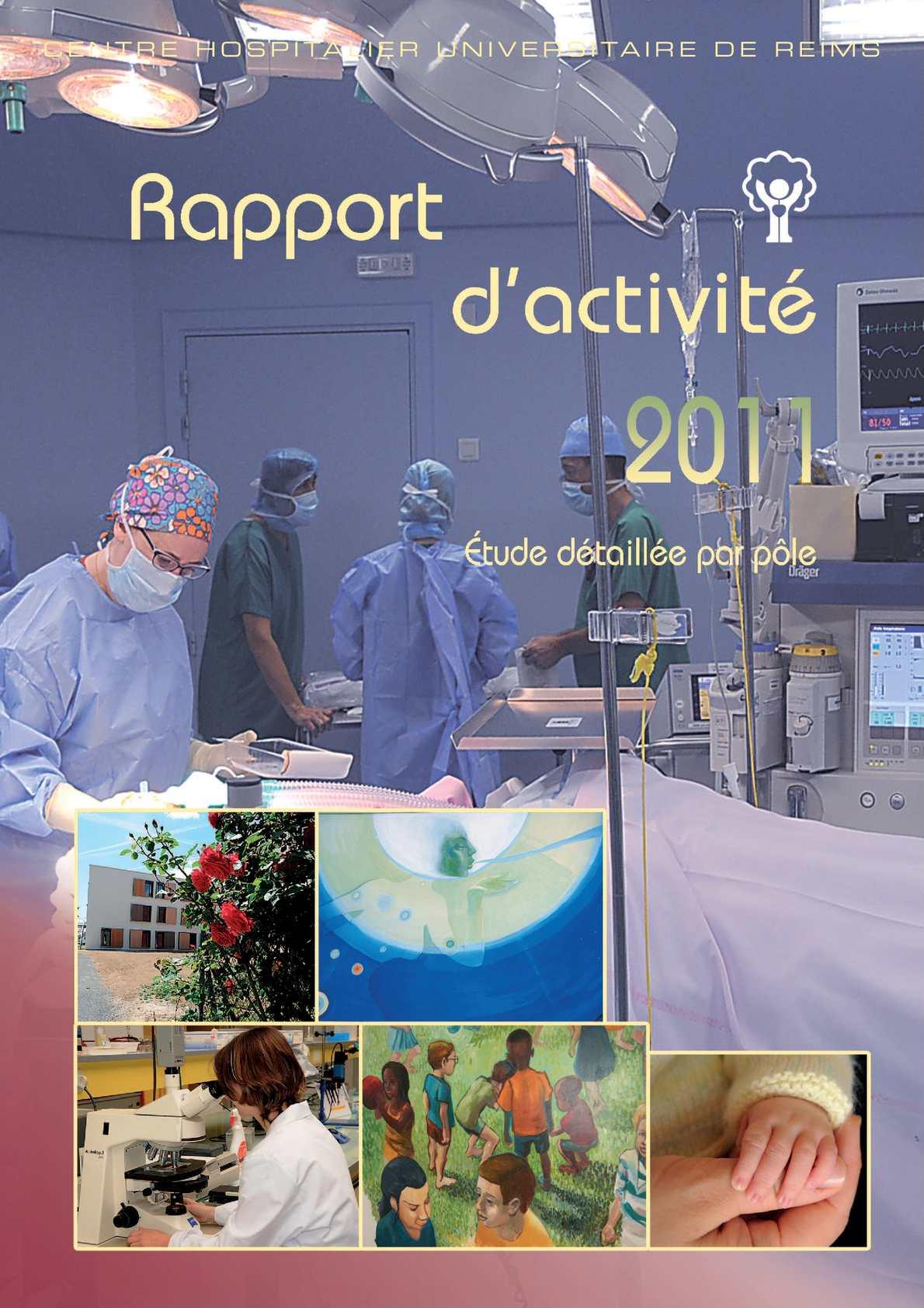 Calaméo - CHU de Reims - Rapport d'activité 2011 - Étude détaillée ...