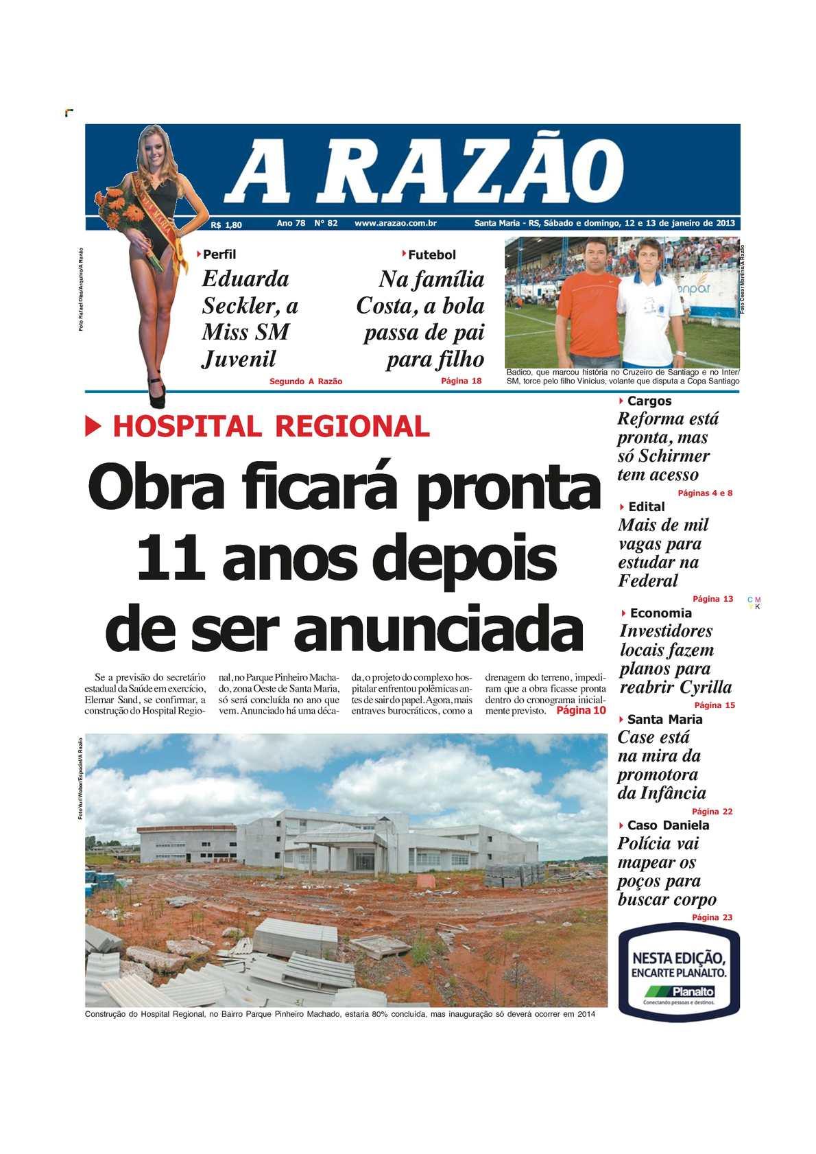 Calaméo - Jornal A Razão - Santa Maria - 12 e 13 de janeiro de 2013 7886e44c5d053