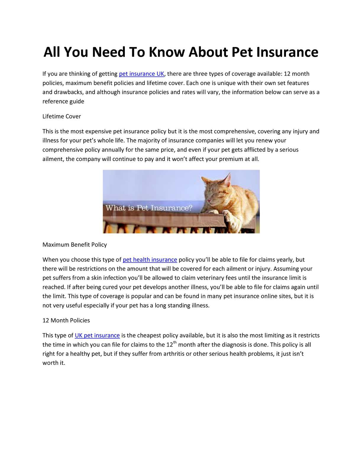 Pet Insurance Companies >> Calameo All You Need To Know About Pet Insurance