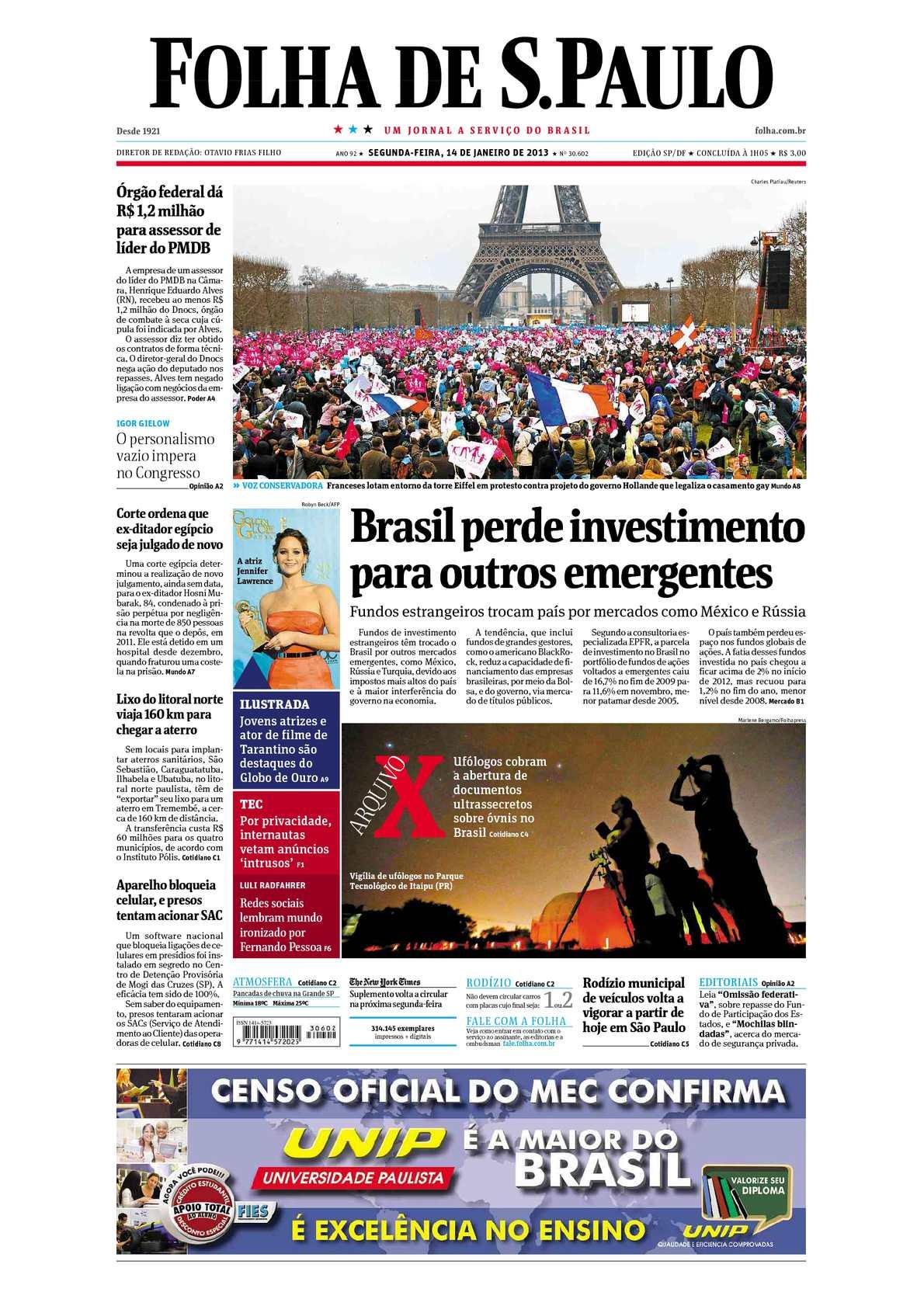 Calaméo - Folha de São Paulo - 14-01-2013 433eef8e1b