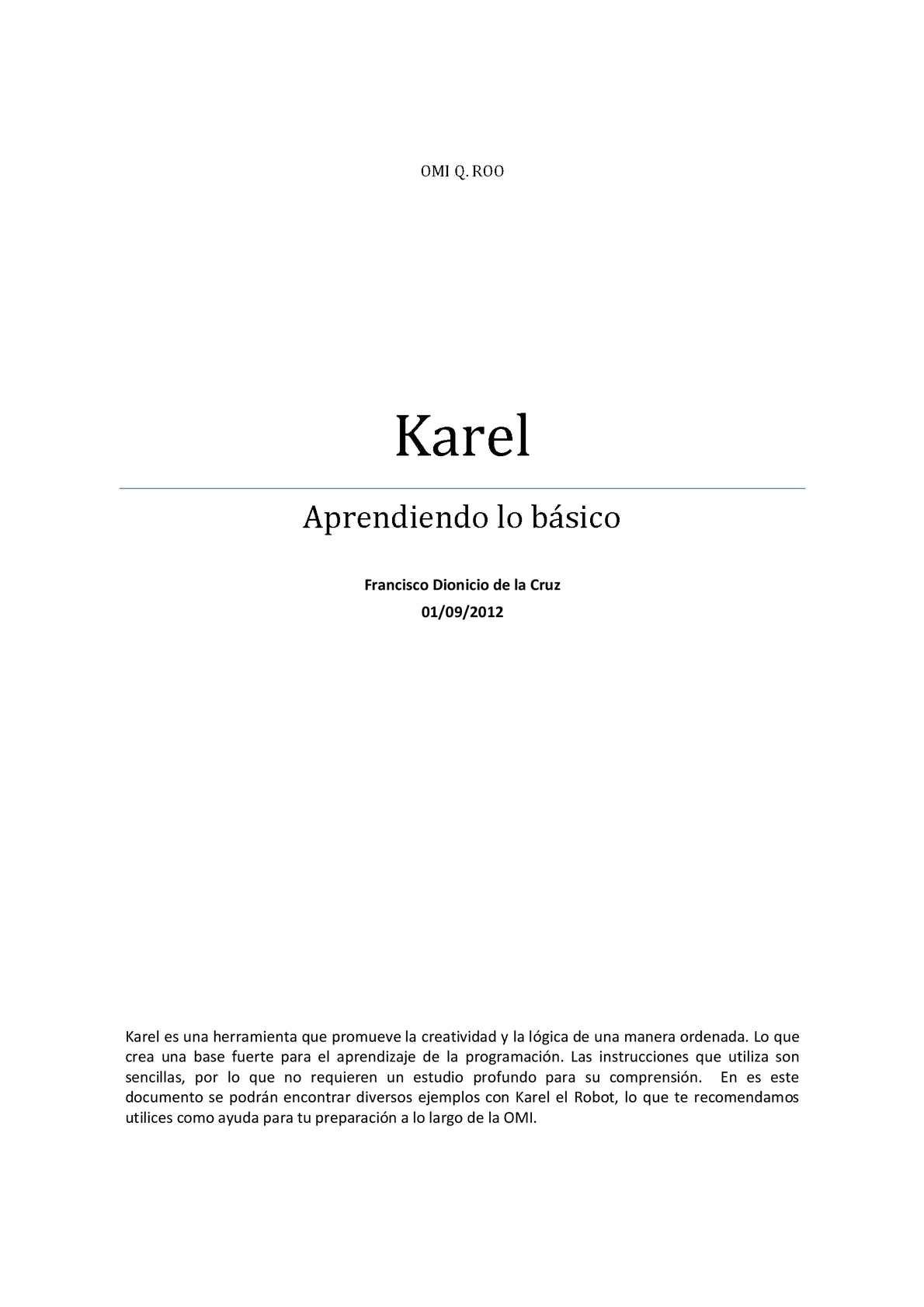 Calaméo Programando En Karel Basico