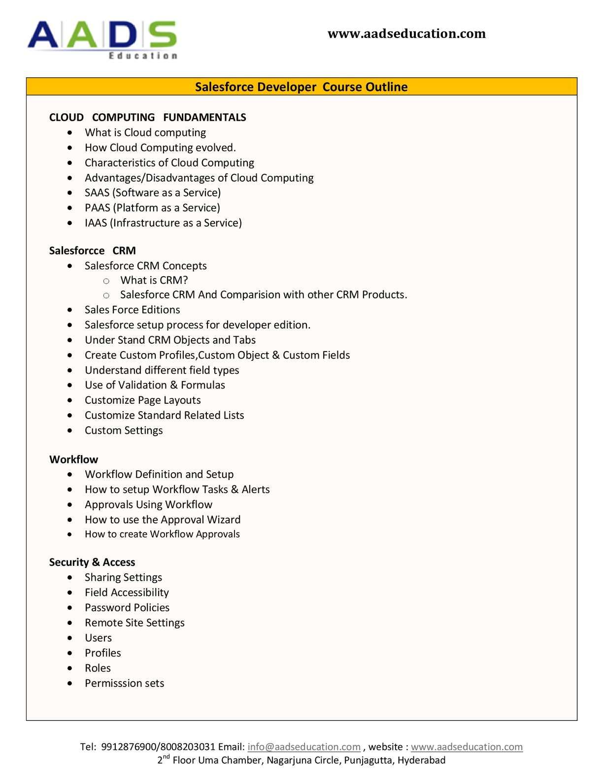 Calaméo - SalesForce CRM training Program in Hyderabad