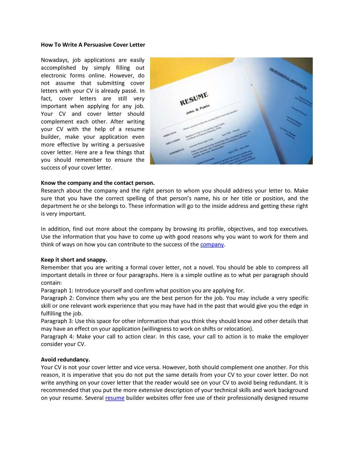 Calaméo - How To Write A Persuasive Cover Letter