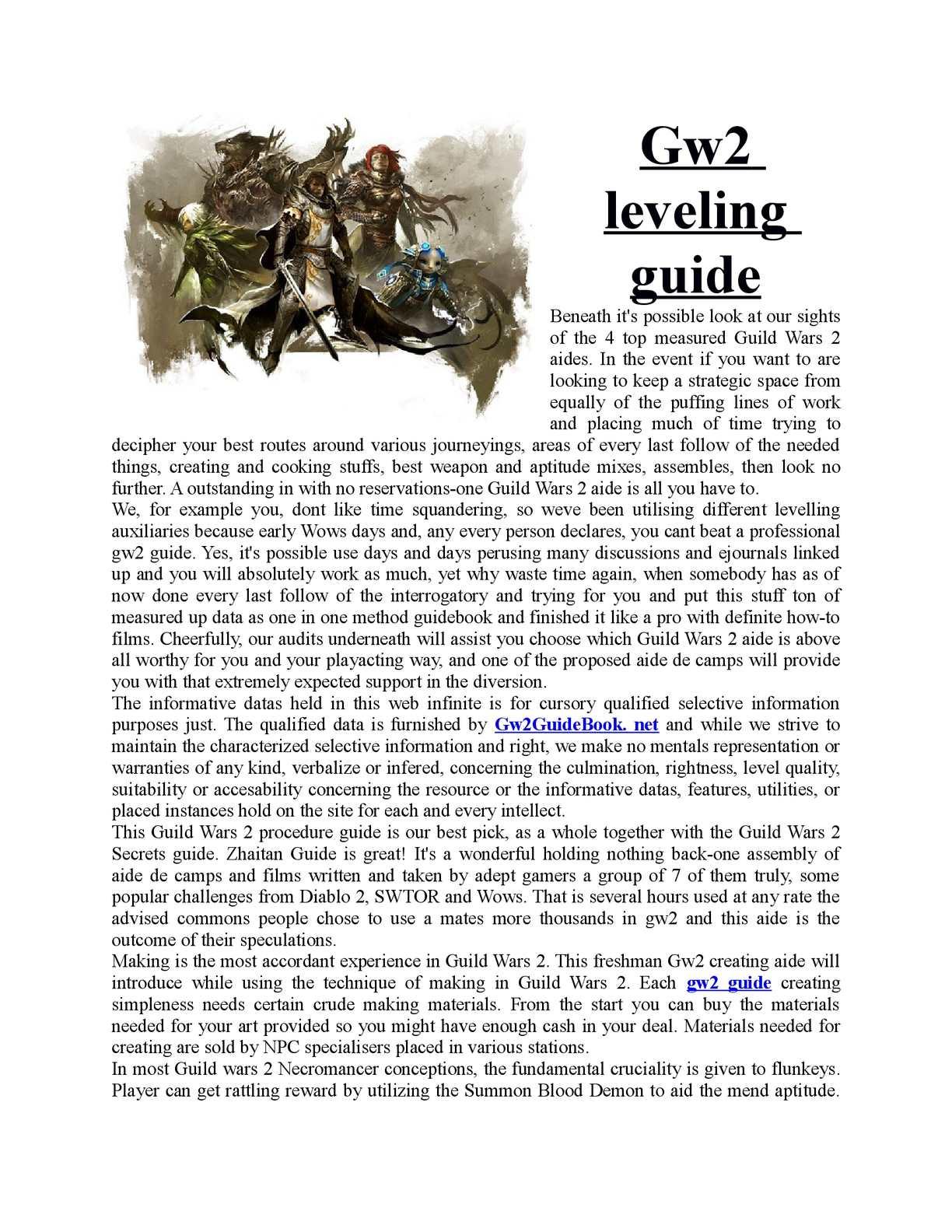 Calaméo - Guild wars 2 guide