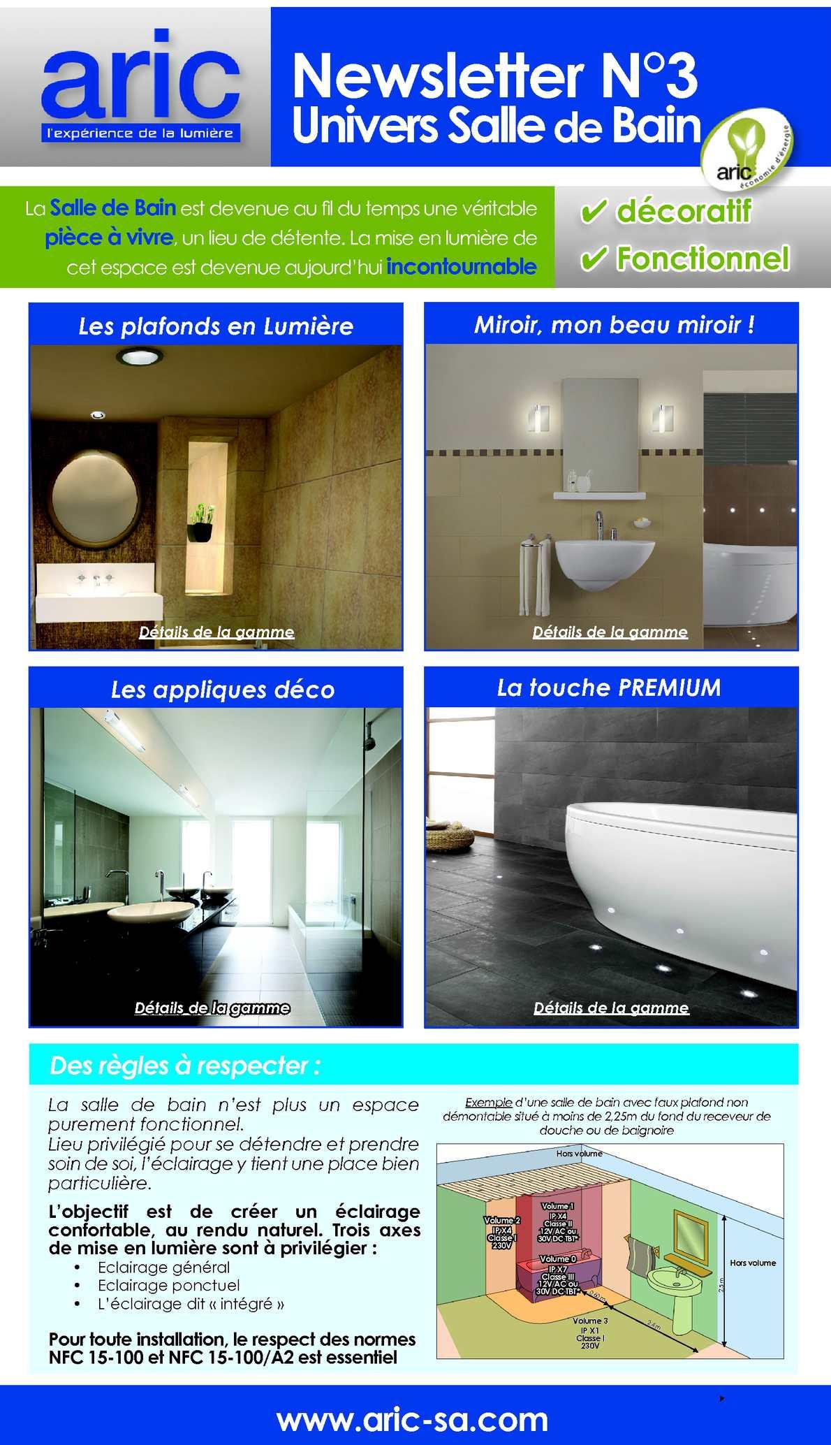 Eclairage Volume 2 Salle De Bain calaméo - aric newsletter n°3