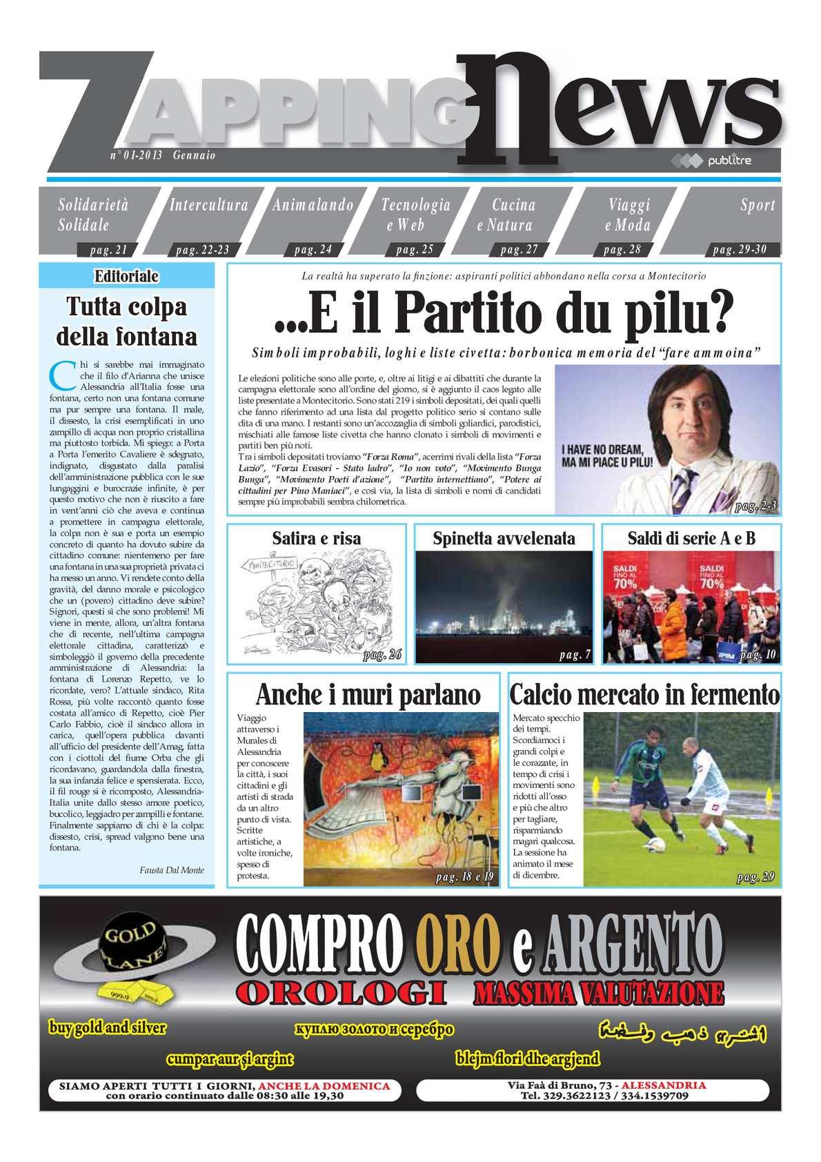 Calaméo 2013 ZAPPING NEWS USCITA 01 GENNAIO