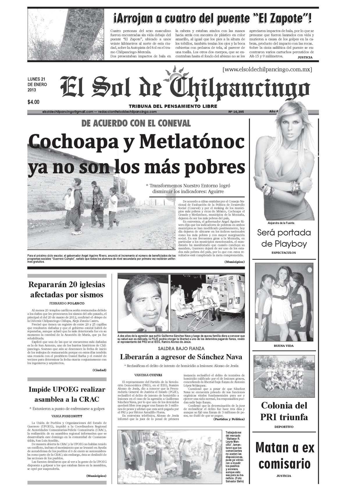 Calaméo - El Sol de Chilpancingo - 21 Enero 2013 792f98c940d2