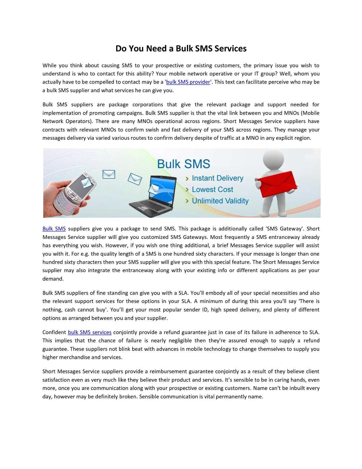 Calaméo - Do You Need a Bulk SMS Services