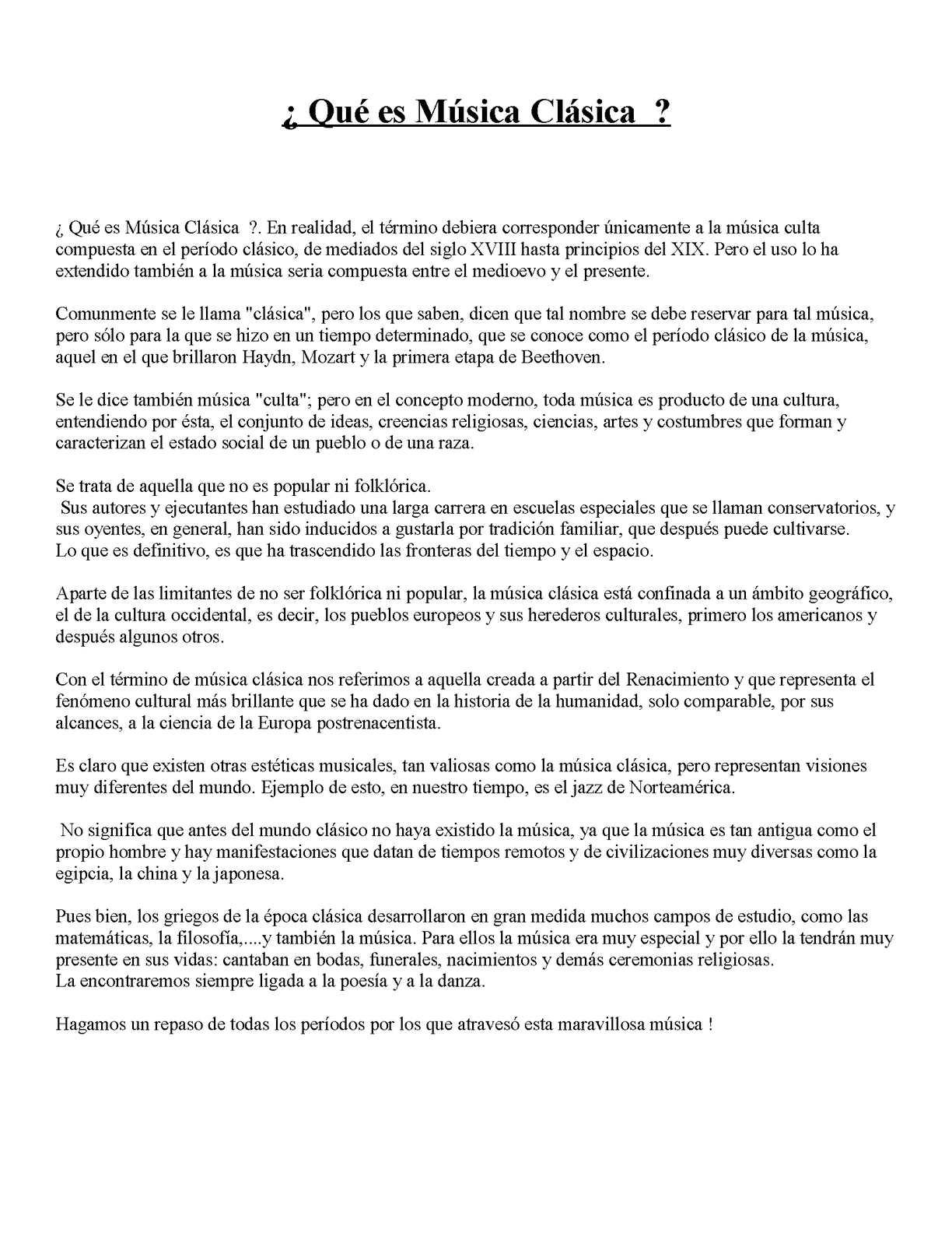 Calameo Apunte De La Historia De La Musica Clasica