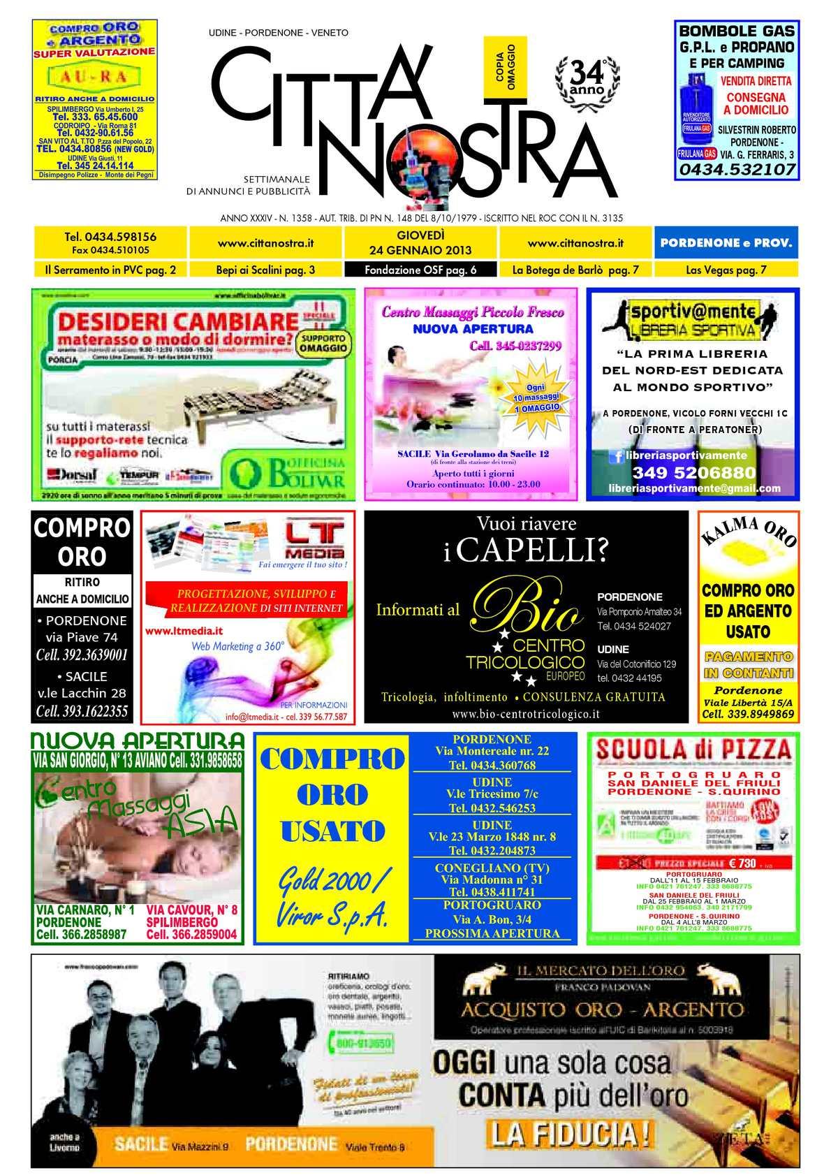 new concept 87511 1362d Calaméo - Città Nostra Pordenone del 24.01.2013 n. 1358