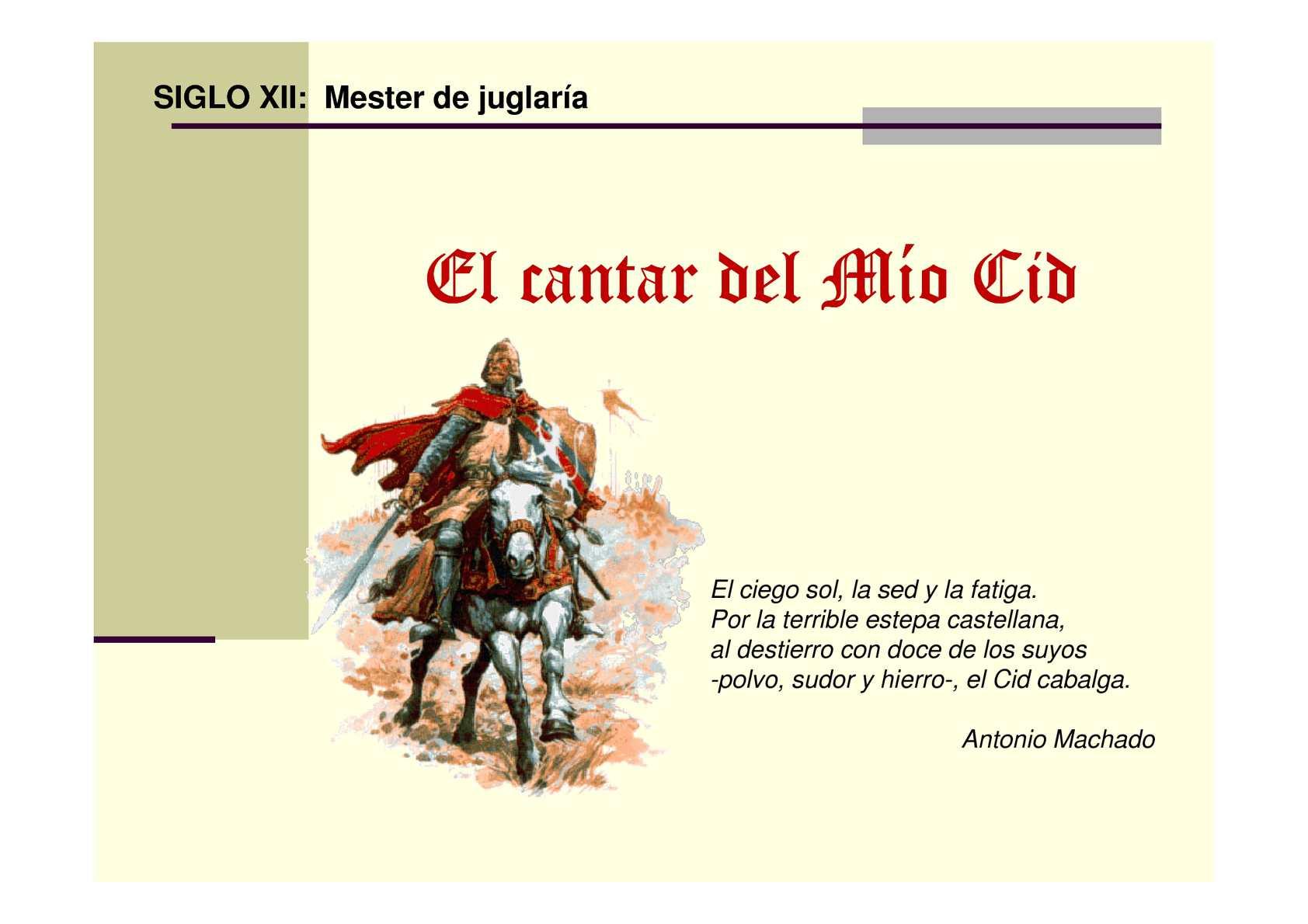 Calaméo Introducción Al Poema De Mio Cid