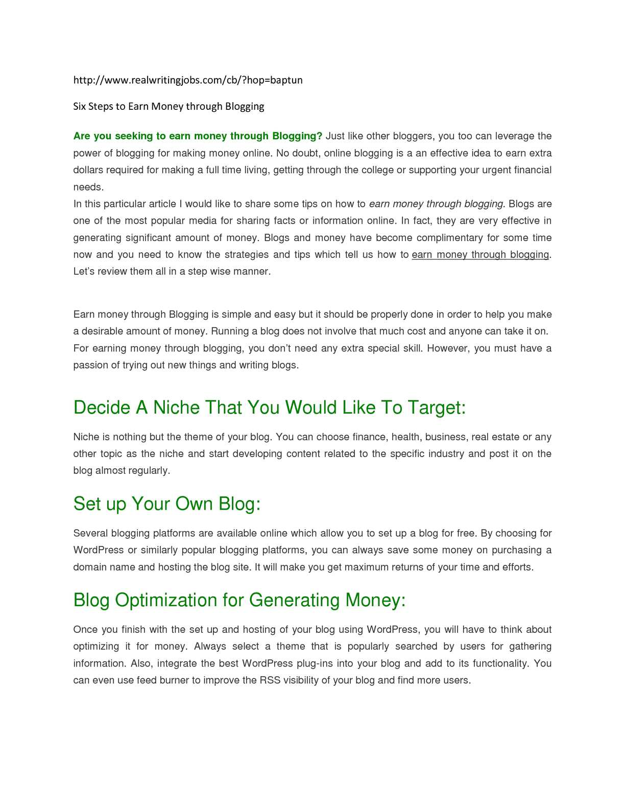 Calaméo   Six Steps to Earn Money through Blogging