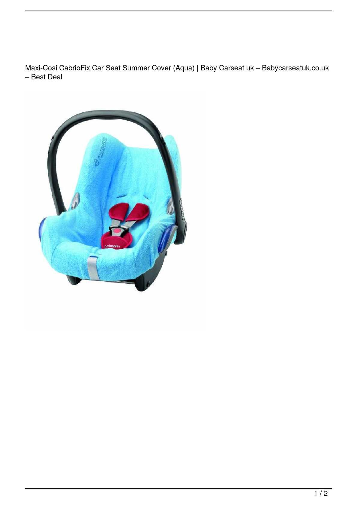 Astounding Calameo Maxi Cosi Cabriofix Car Seat Summer Cover Aqua Cjindustries Chair Design For Home Cjindustriesco