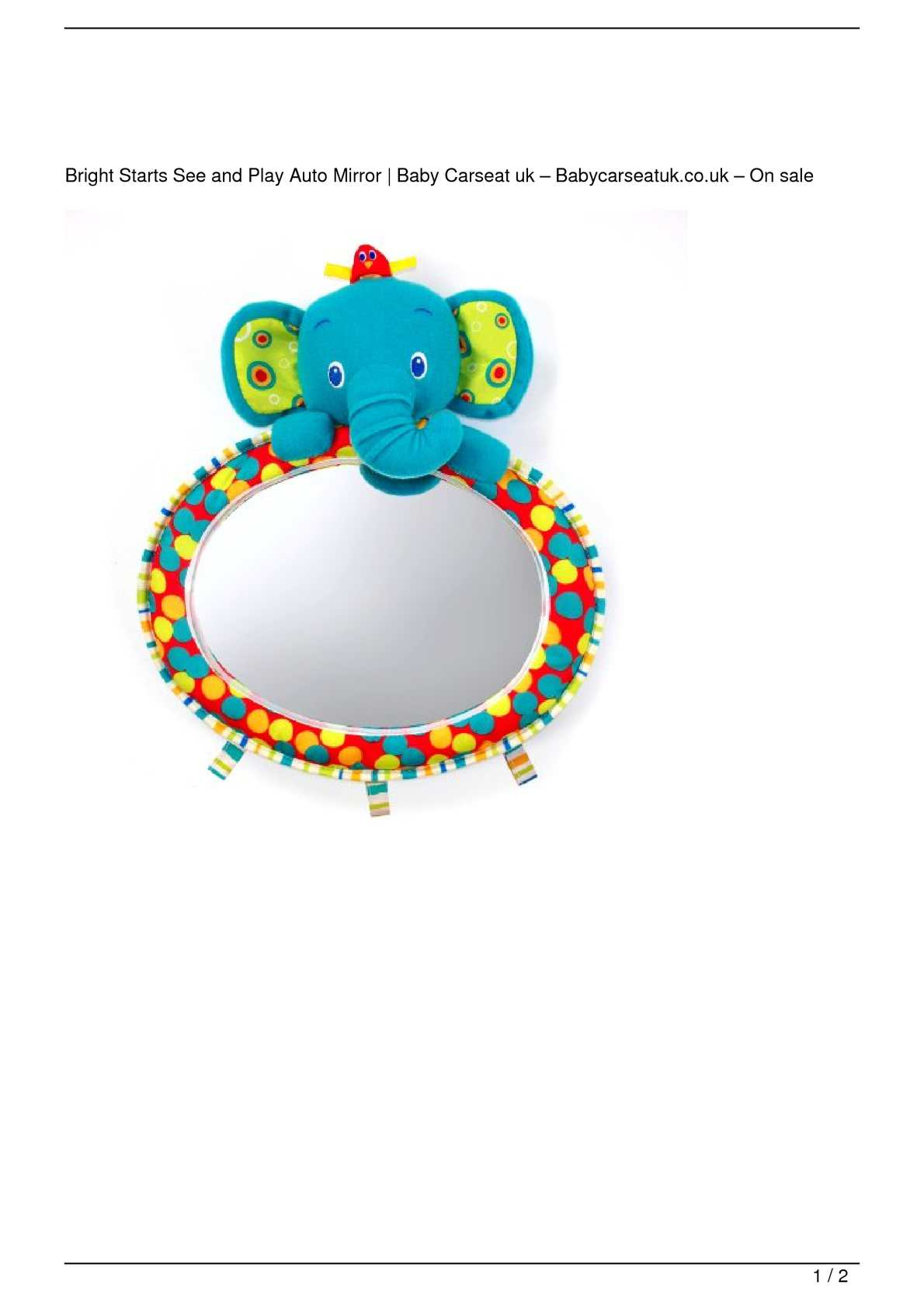 Bright Starts Baby Mirror See /& Play Auto Mirror