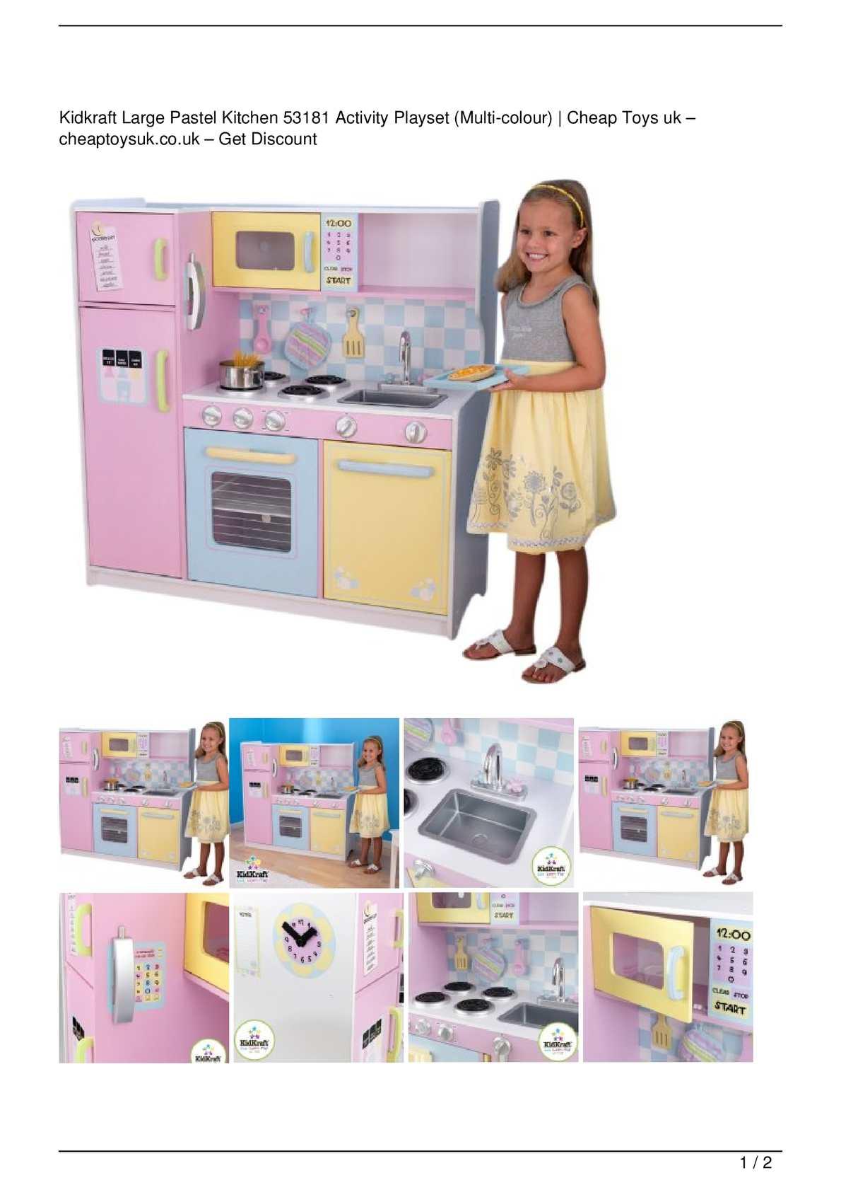 Calameo Kidkraft Large Pastel Kitchen 53181 Activity Playset Multi Colour Big Discount