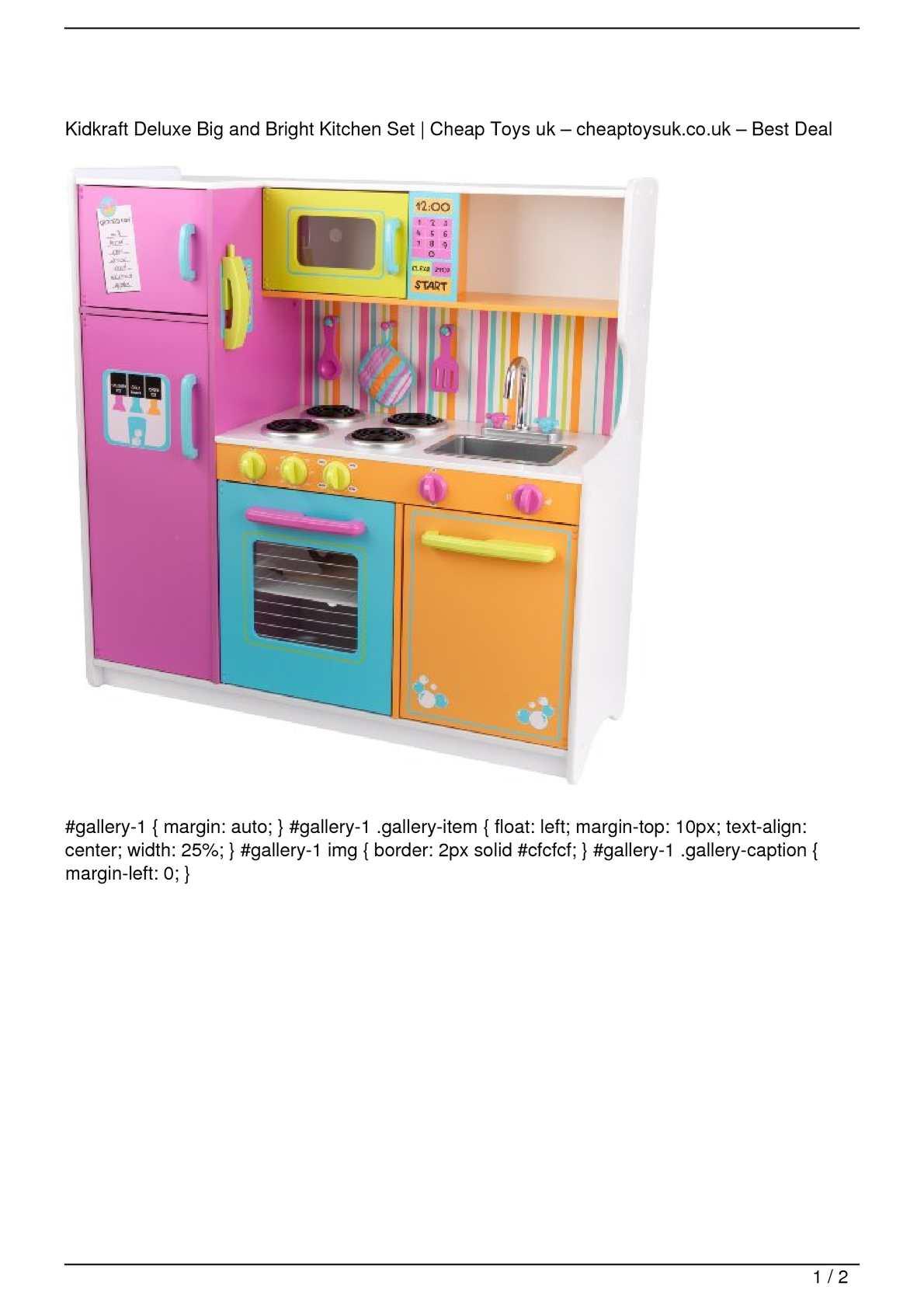 Calaméo - Kidkraft Deluxe Big and Bright Kitchen Set Big SALE