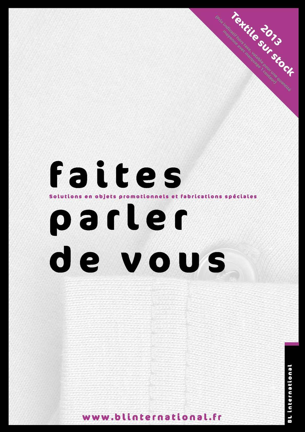 Calaméo - Catalogue textile partie 2 BL International 2013 3e98377a6dc