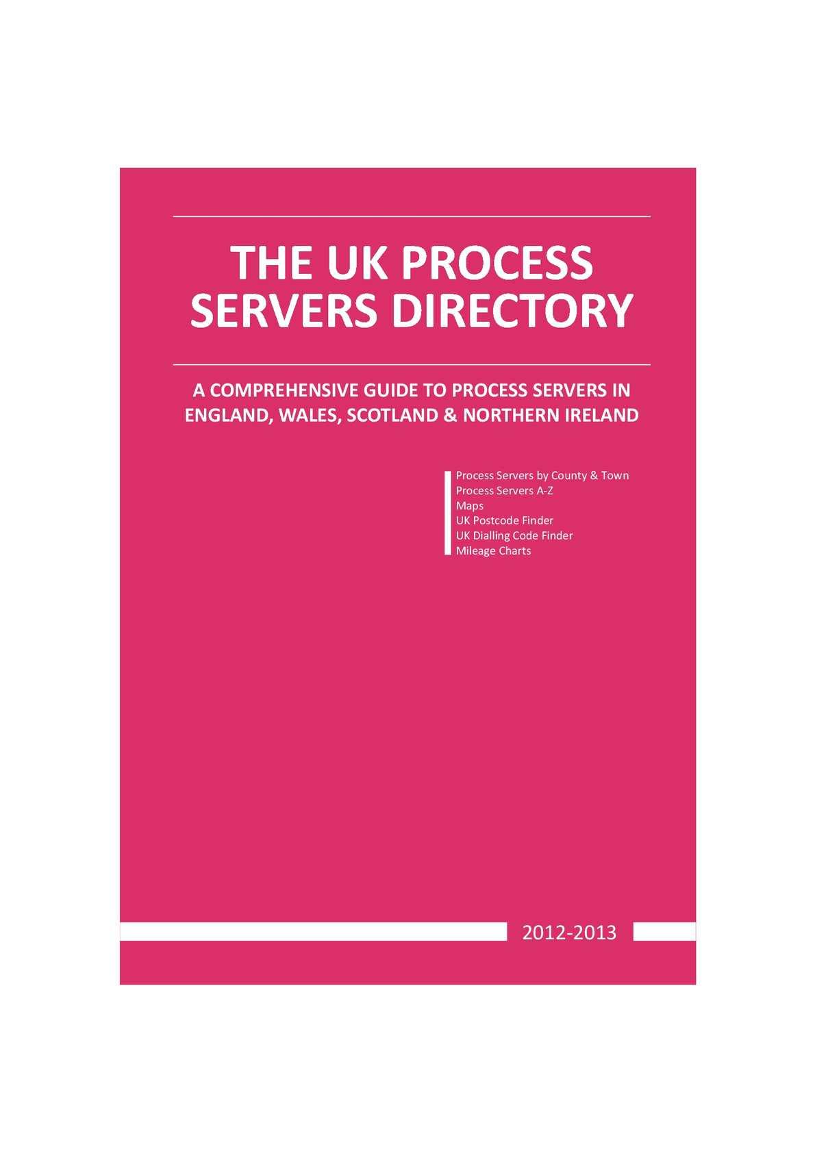 2a009dec8ca Calaméo - UK Process Servers Directory 2012-2013