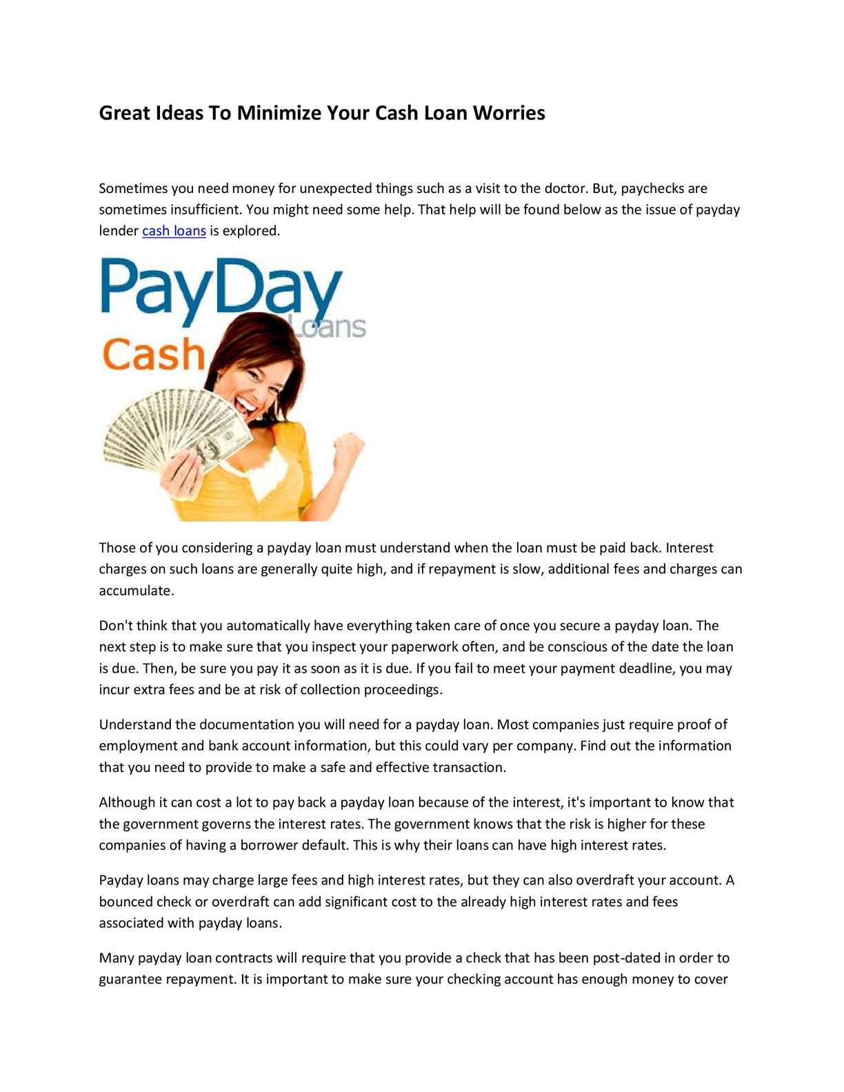 Calaméo - cash loans
