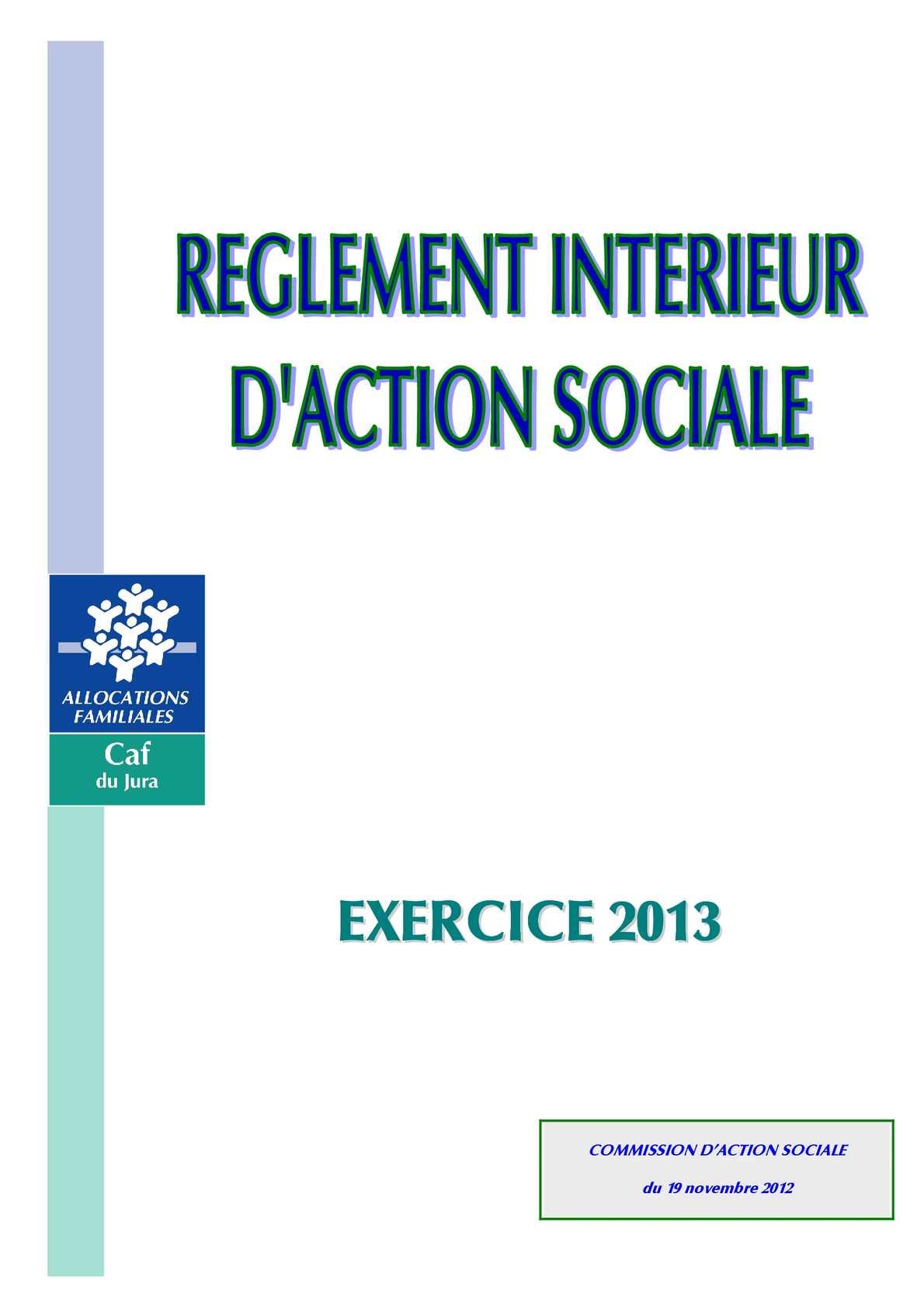 Calameo Caf Du Jura Reglement Interieur Action Sociale 2013