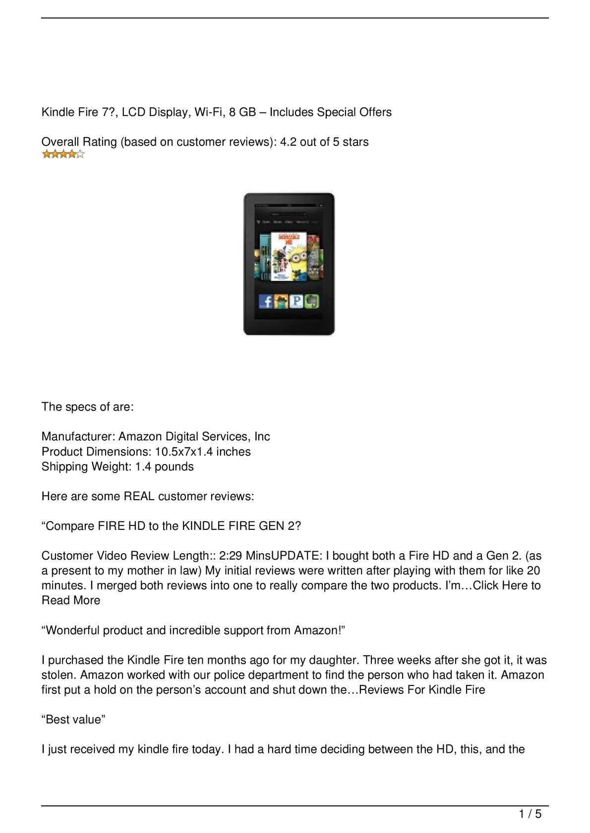 Calaméo - Reviews For Kindle Fire Home