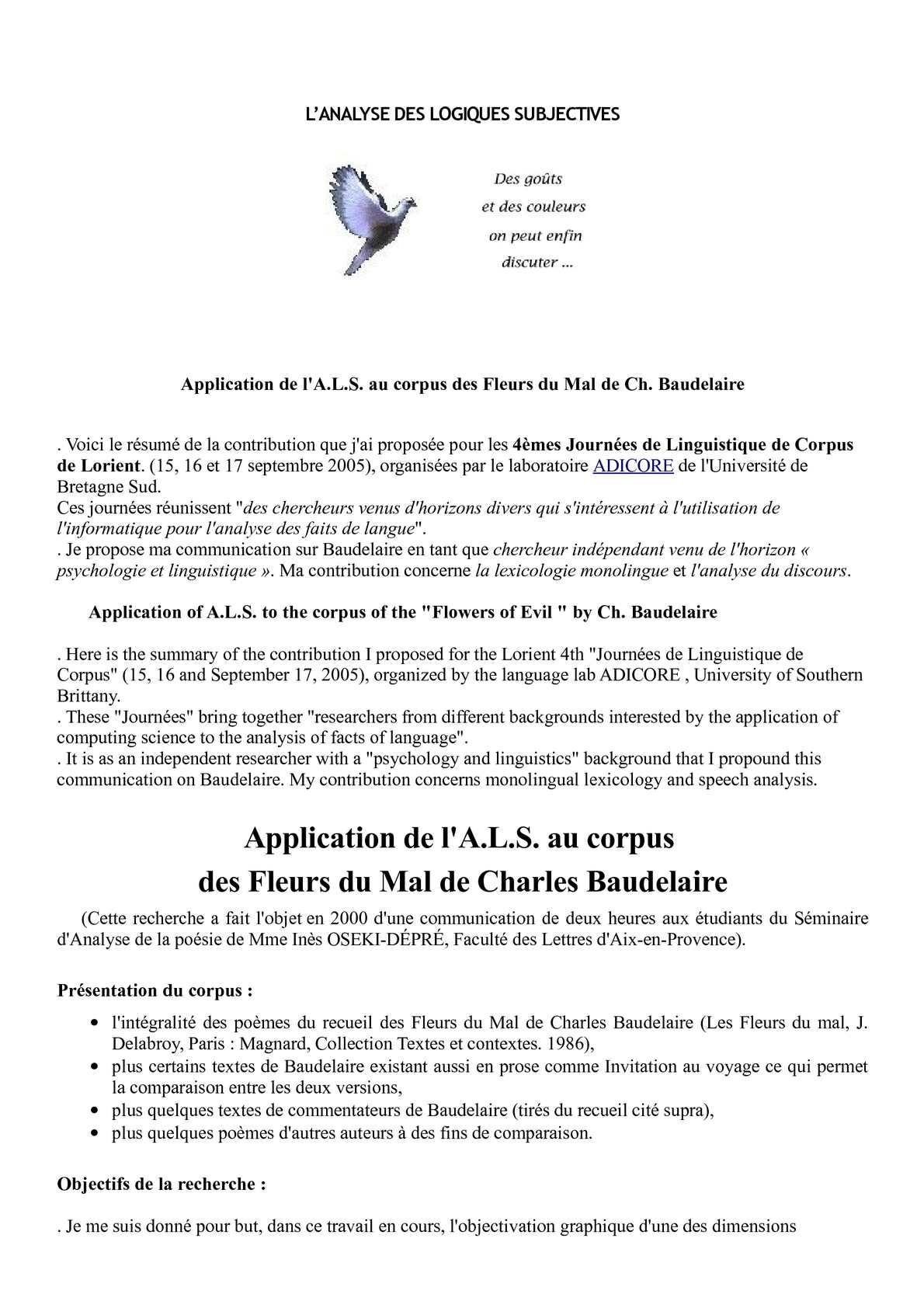 Calaméo Application De Lals Au Corpus Des Fleurs Du