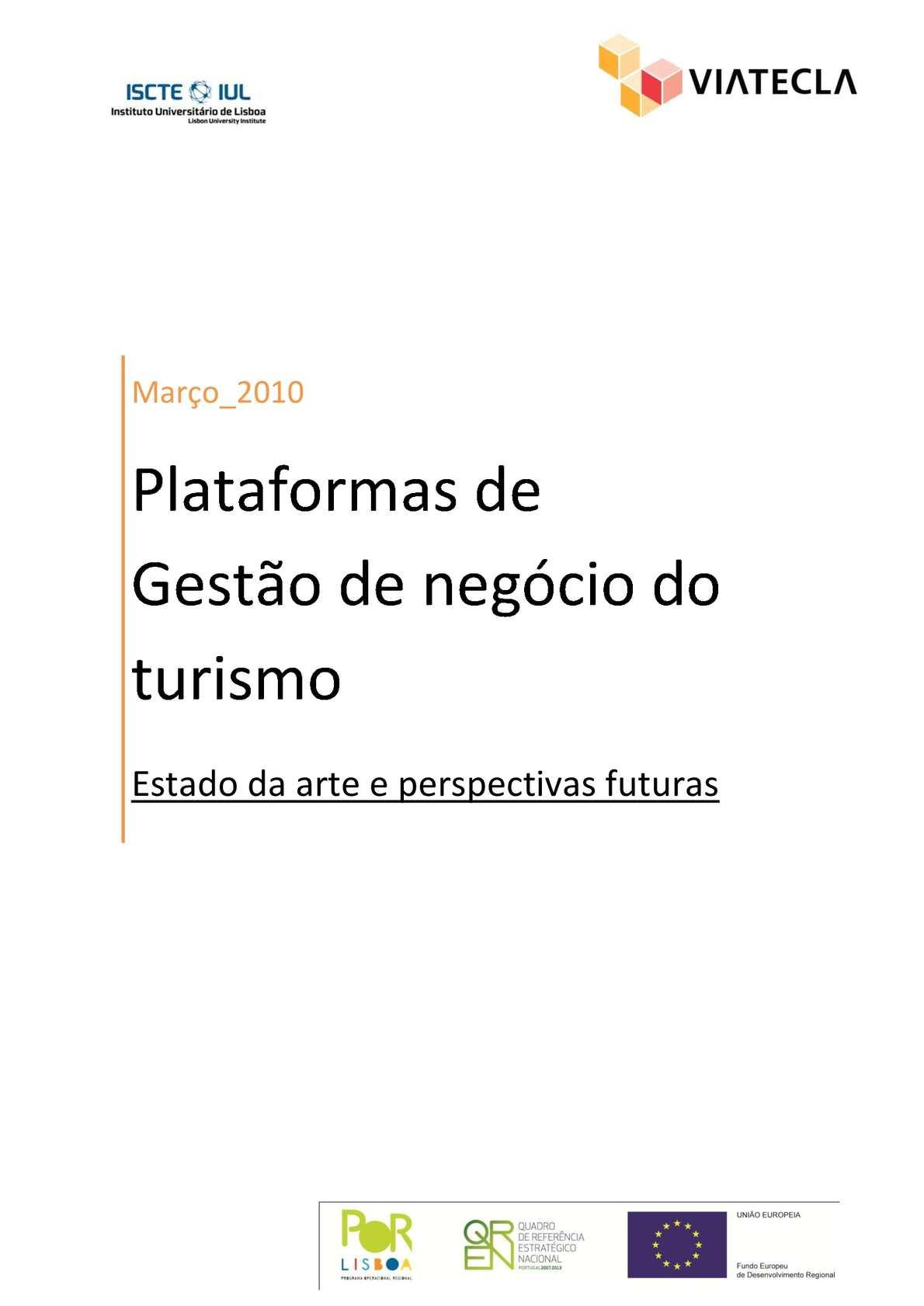 0a3dee254a7d Calaméo - VideoForTravel: Plataformas de Gestão de negócio do turismo