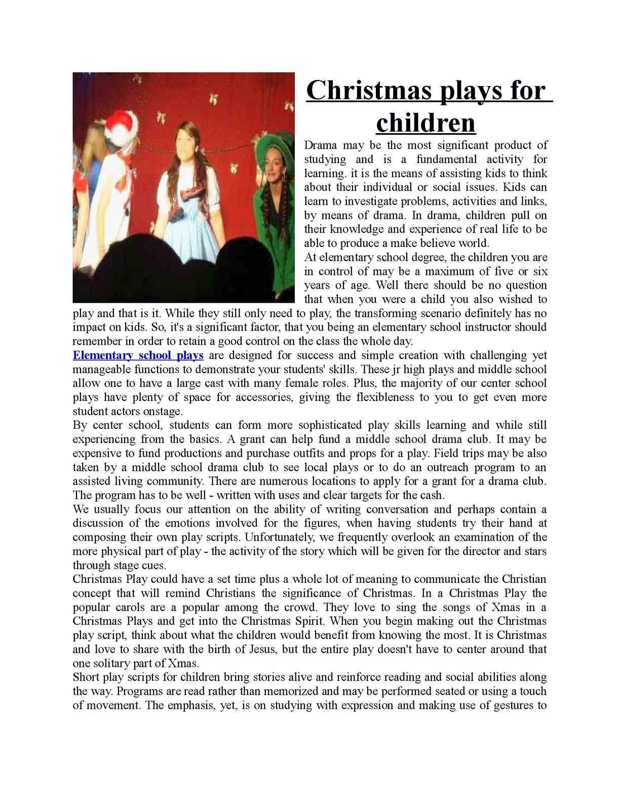 Short Christmas Plays.Calameo Short Plays For Kids