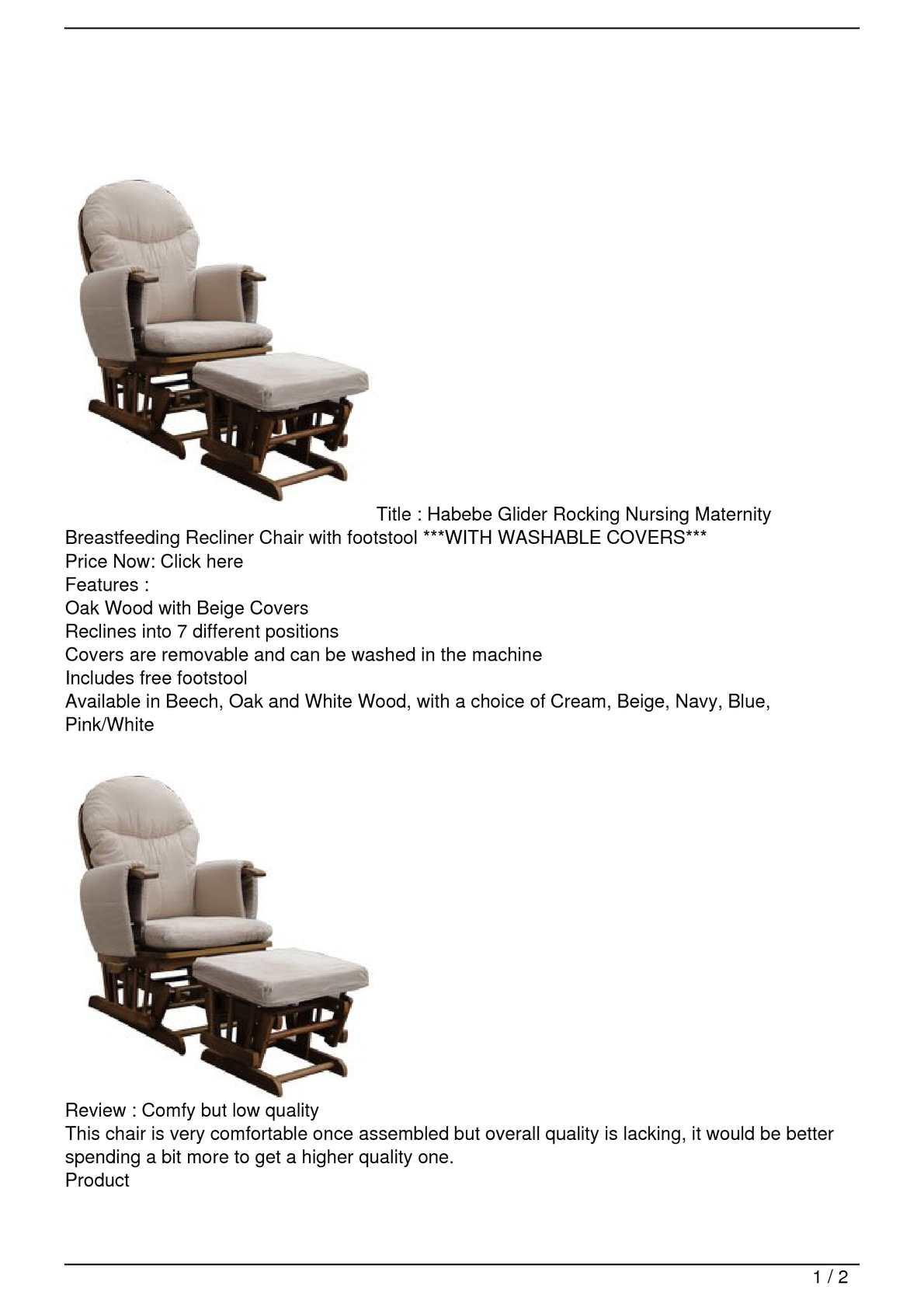 Excellent Calameo Habebe Glider Rocking Nursing Maternity Creativecarmelina Interior Chair Design Creativecarmelinacom