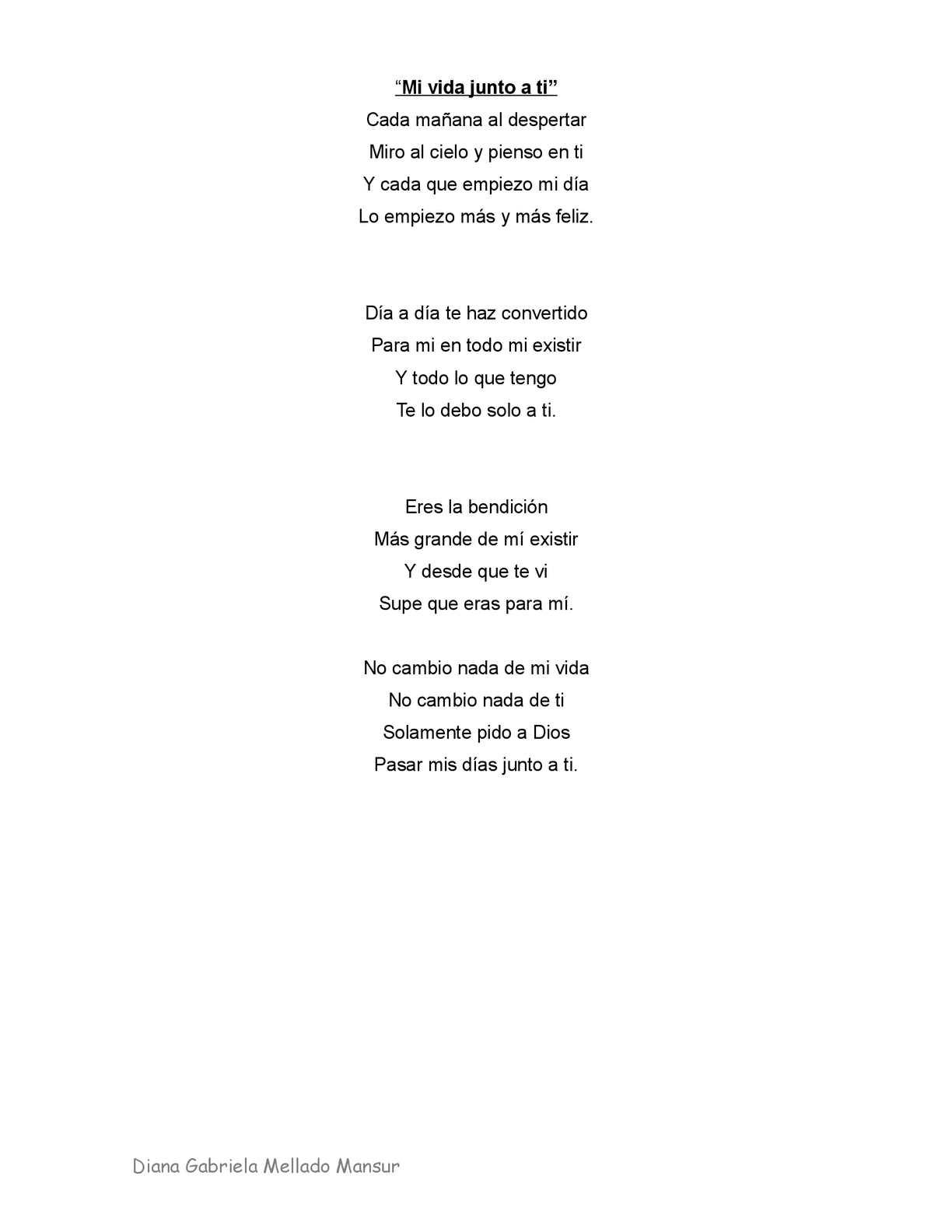 Calaméo Poema Mi Vida Junto A Ti